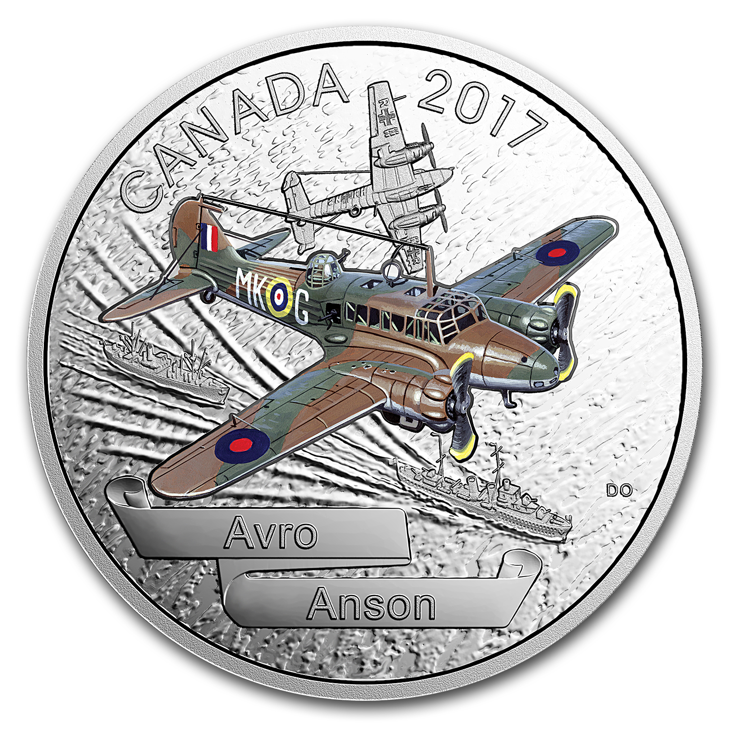 2017 Canada 1 oz Silver $20 Aircraft of WWII Avro Anson