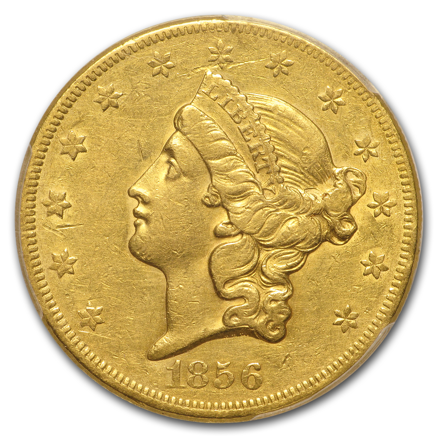 1856 $20 Liberty Gold Double Eagle XF-45 PCGS