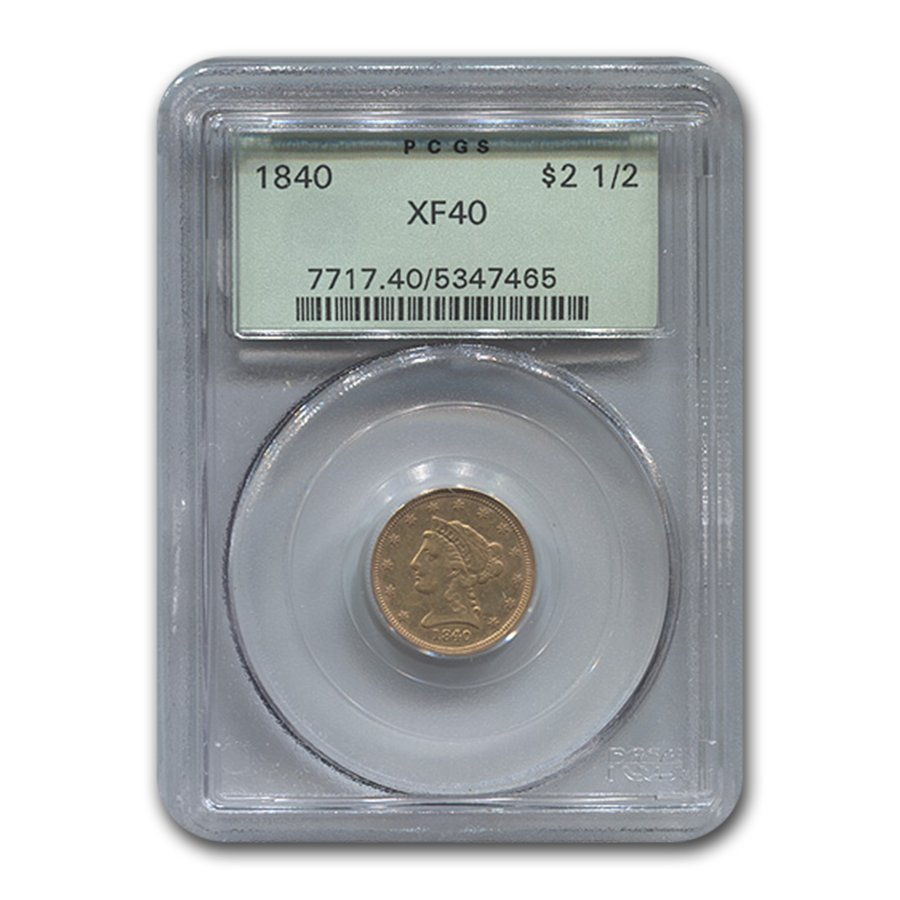 1840 $2.50 Liberty Gold Quarter Eagle XF-40 PCGS