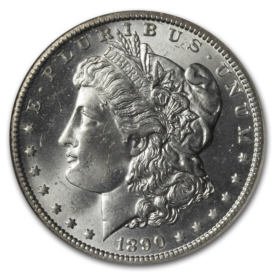 1890-O Morgan Dollar MS-63 NGC