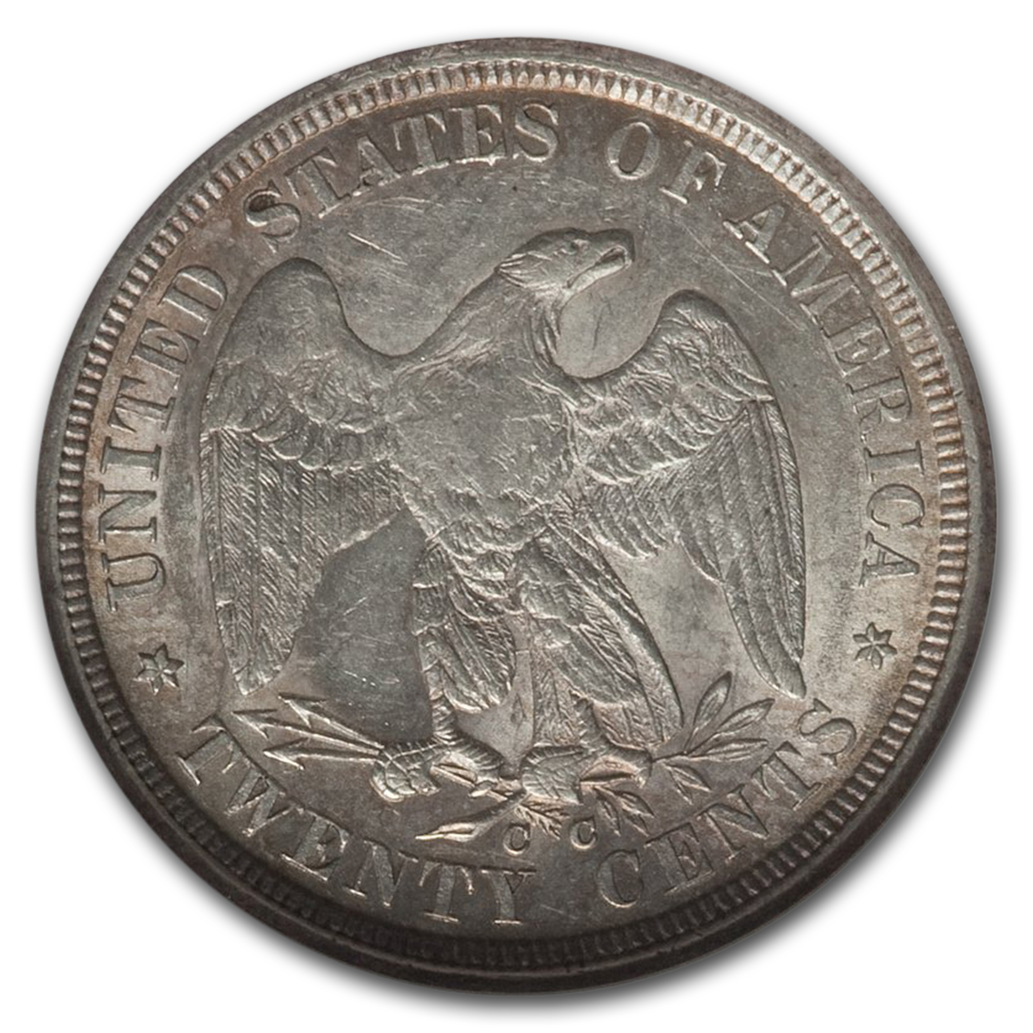 1875-CC Twenty Cent Piece MS-61 NGC