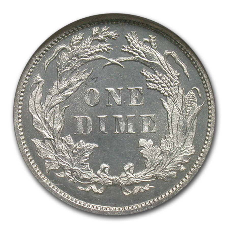 1884 Liberty Seated Dime PF-67 Cameo NGC