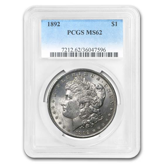 1892 Morgan Dollar MS-62 PCGS