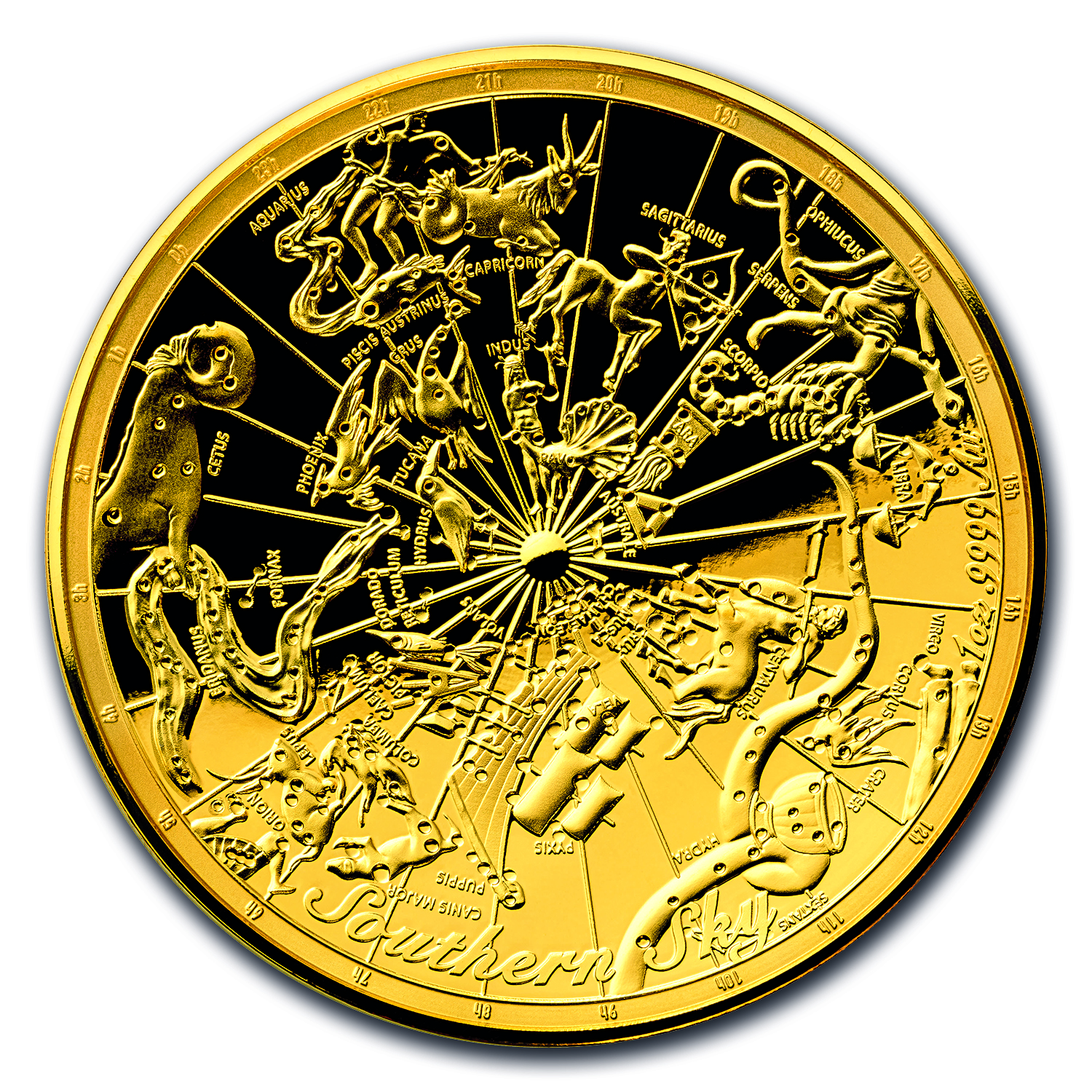 2017 Australia 1 oz $100 Gold Southern Sky Domed Proof