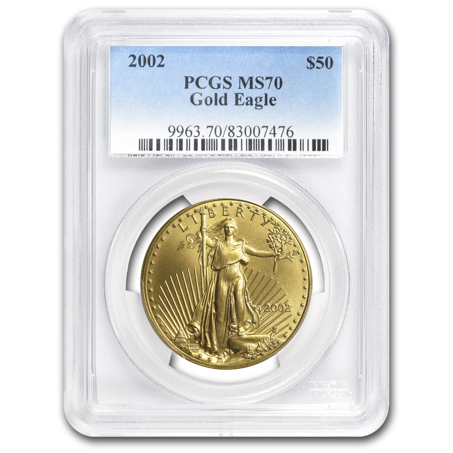 2002 1 oz Gold American Eagle MS-70 PCGS