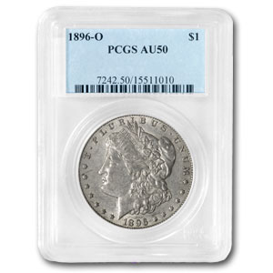 1896-O Morgan Dollar AU-50 PCGS