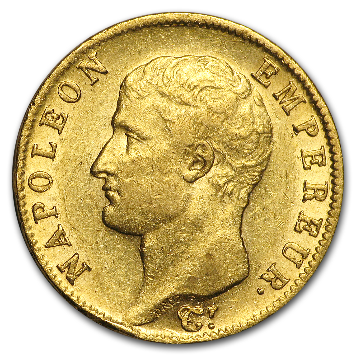 1806-A France Gold 20 Francs Napoleon I AU