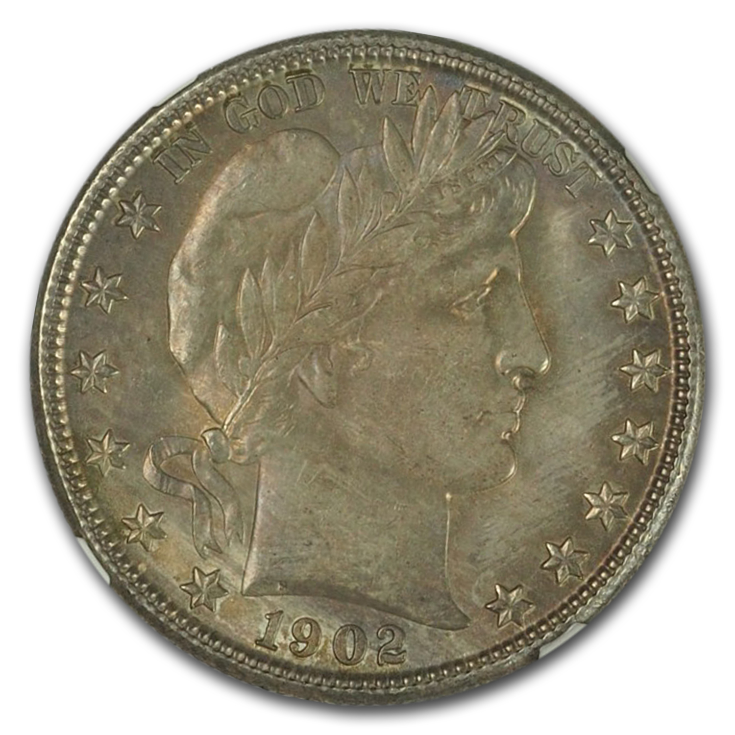 1902-O Barber Half Dollar MS-65 NGC