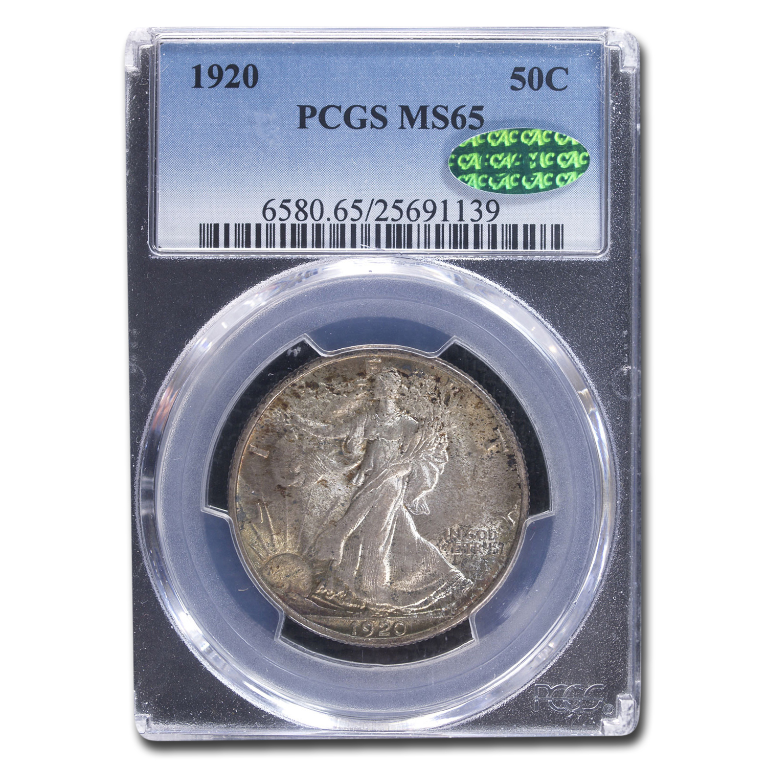 1920 Walking Liberty Half Dollar MS-65 PCGS CAC