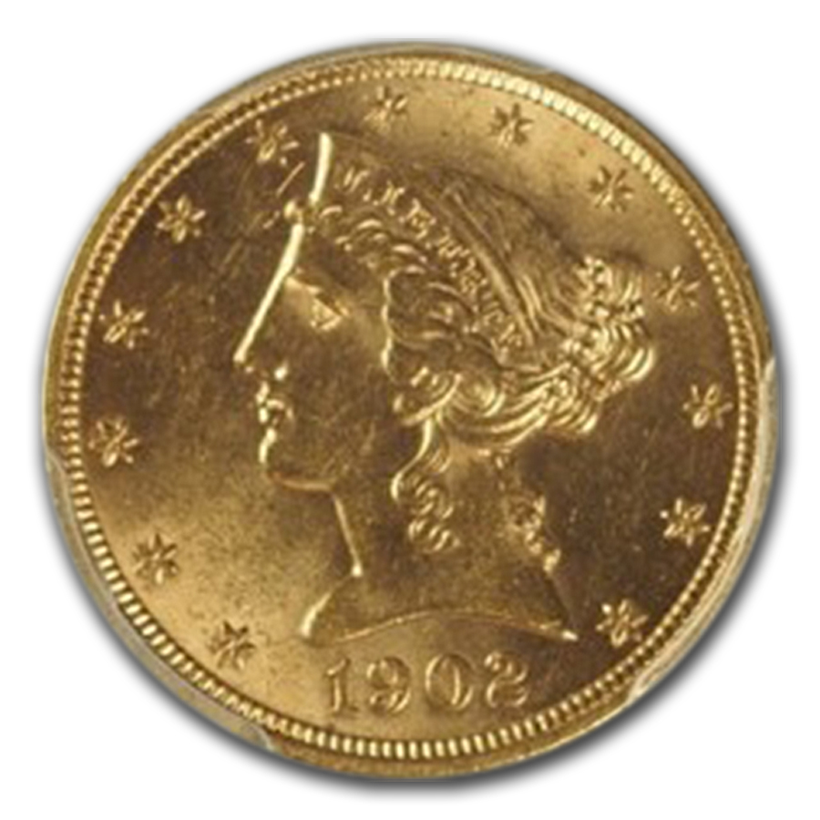 1902 $5 Liberty Gold Half Eagle MS-63 PCGS