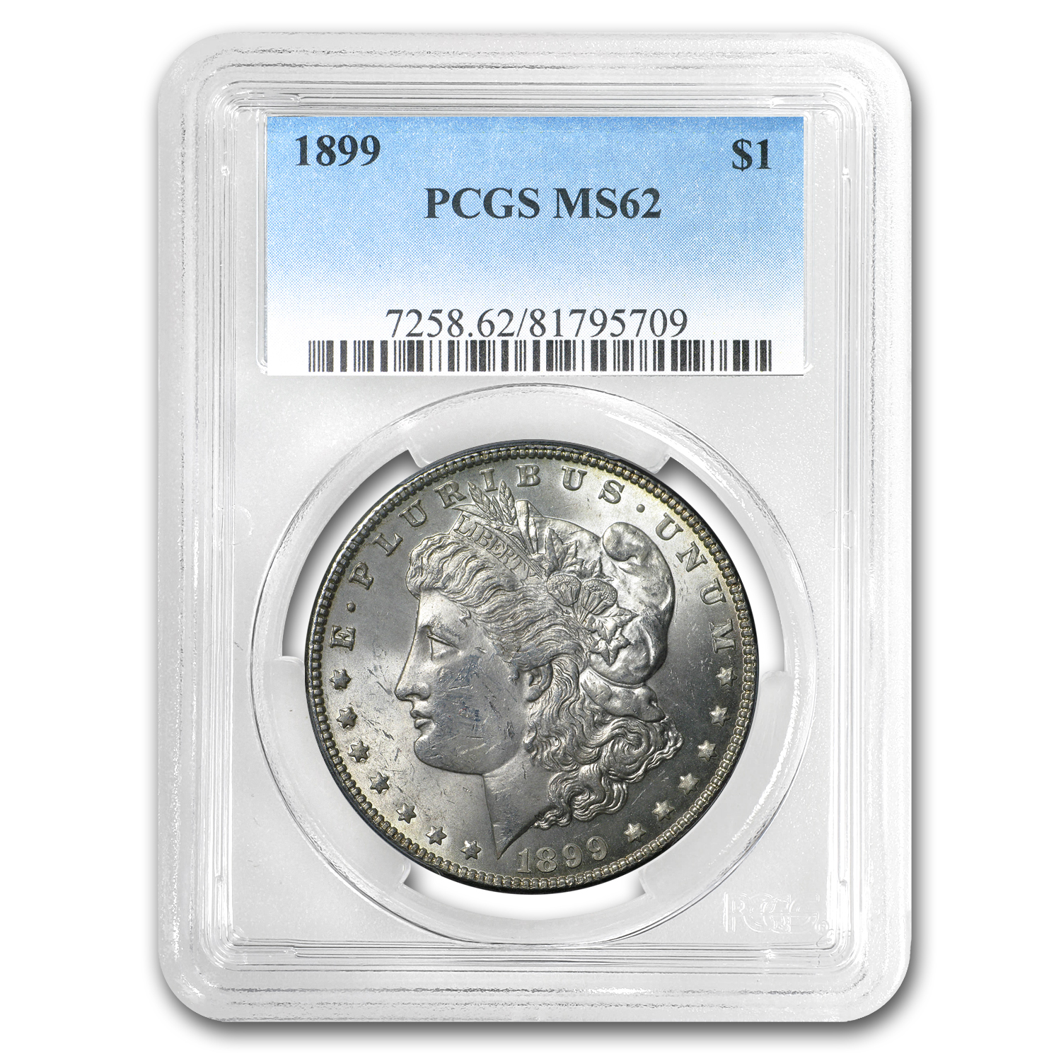 1899 Morgan Dollar MS-62 PCGS