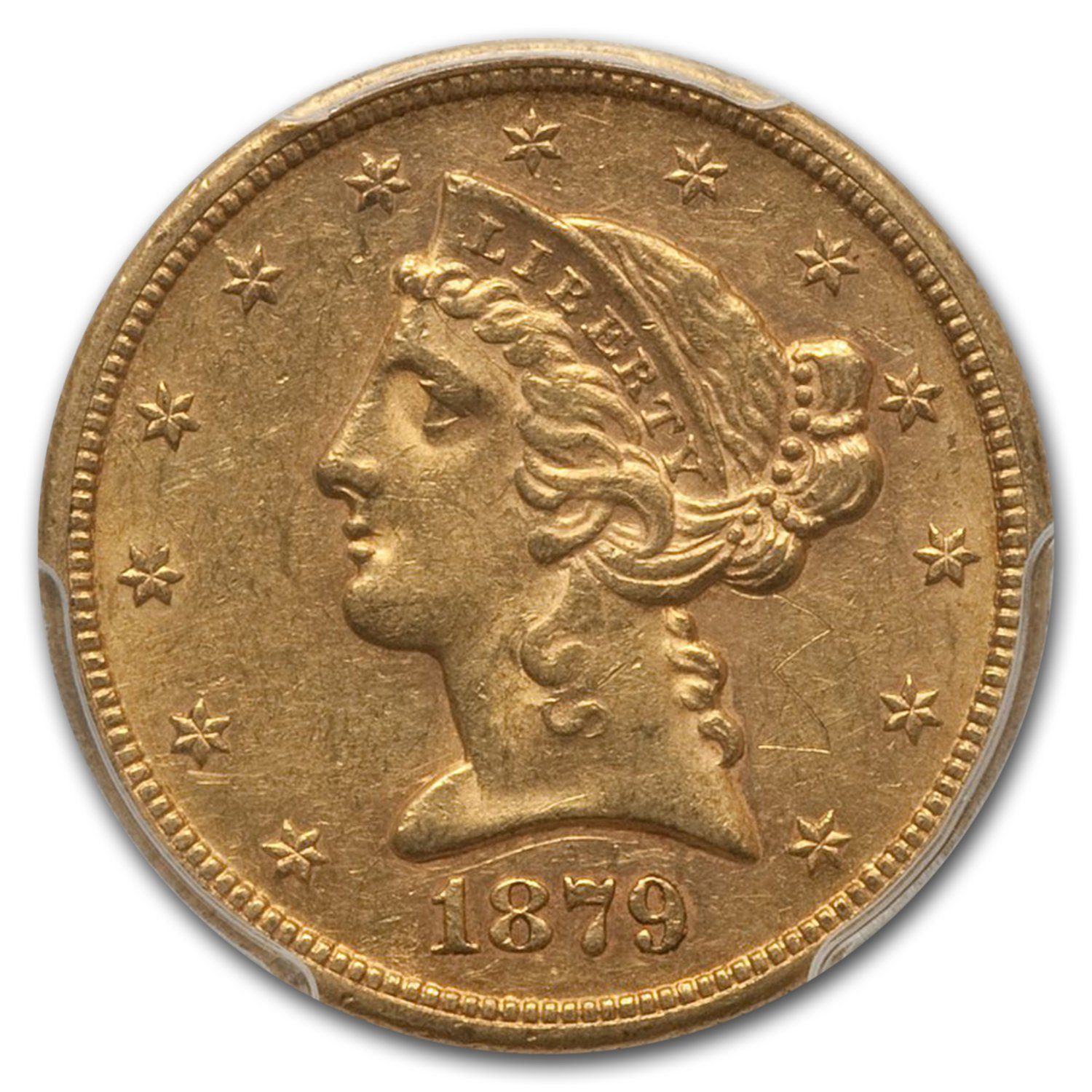 1879-S $5 Liberty Gold Half Eagle MS-61 PCGS