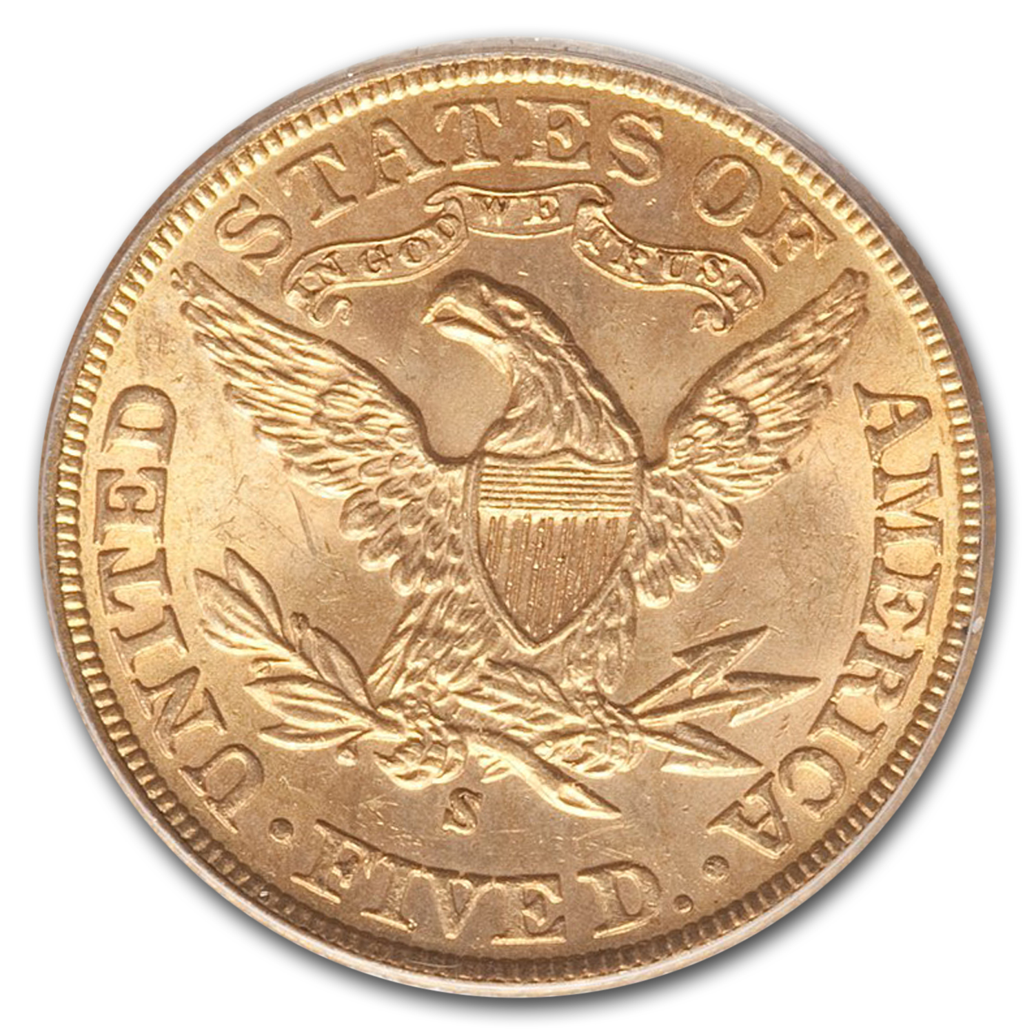 1900-S $5 Liberty Gold Half Eagle MS-63 PCGS