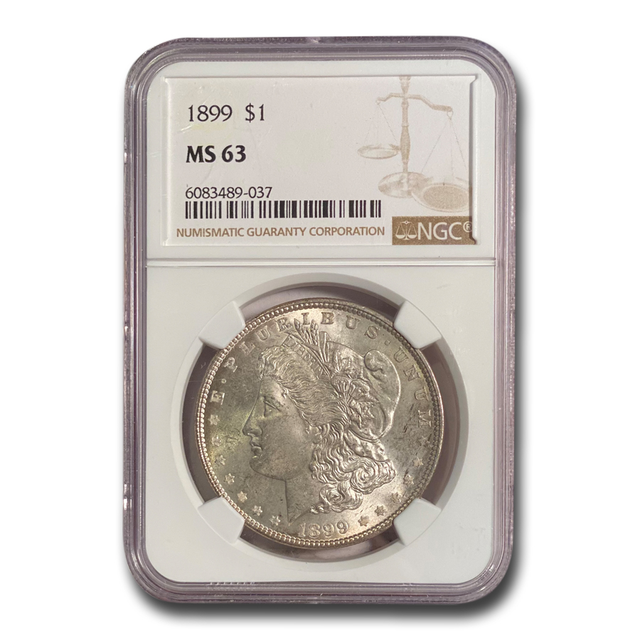 1899 Morgan Dollar MS-63 NGC