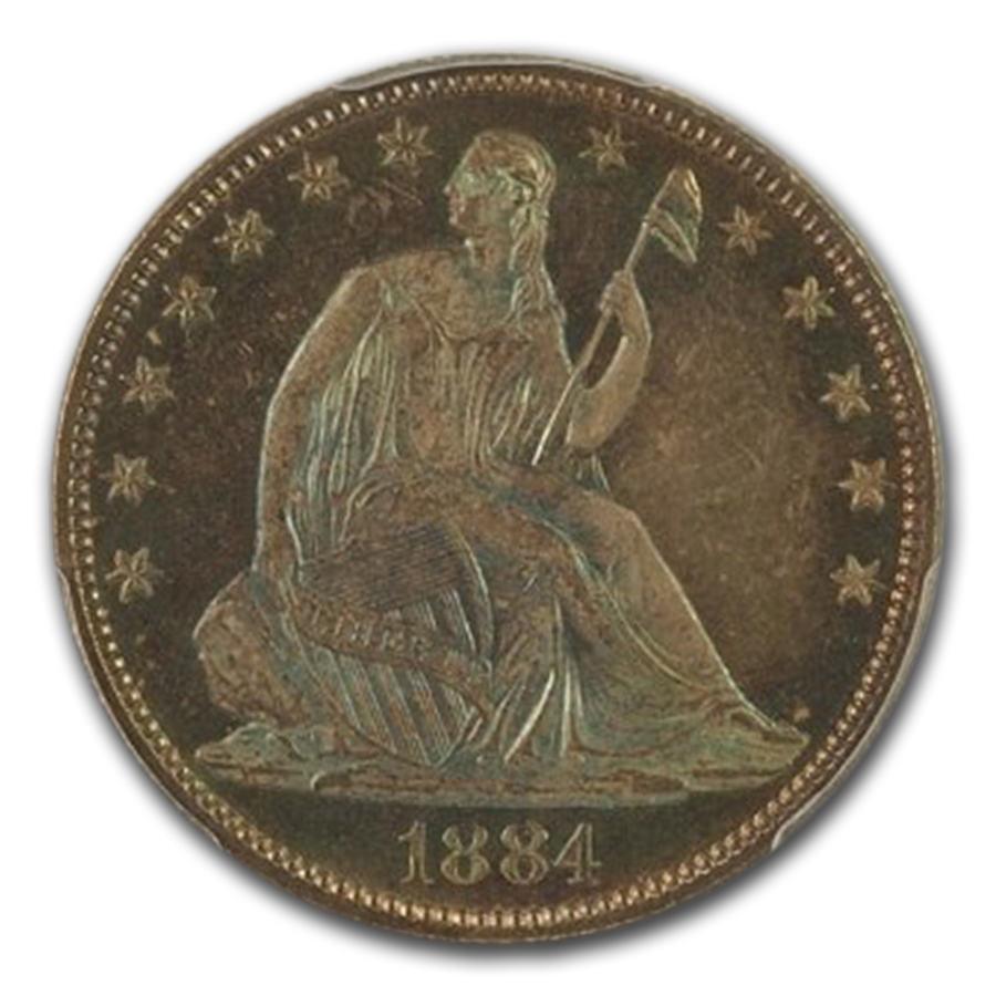 1884 Liberty Seated Quarter MS-66 PCGS CAC