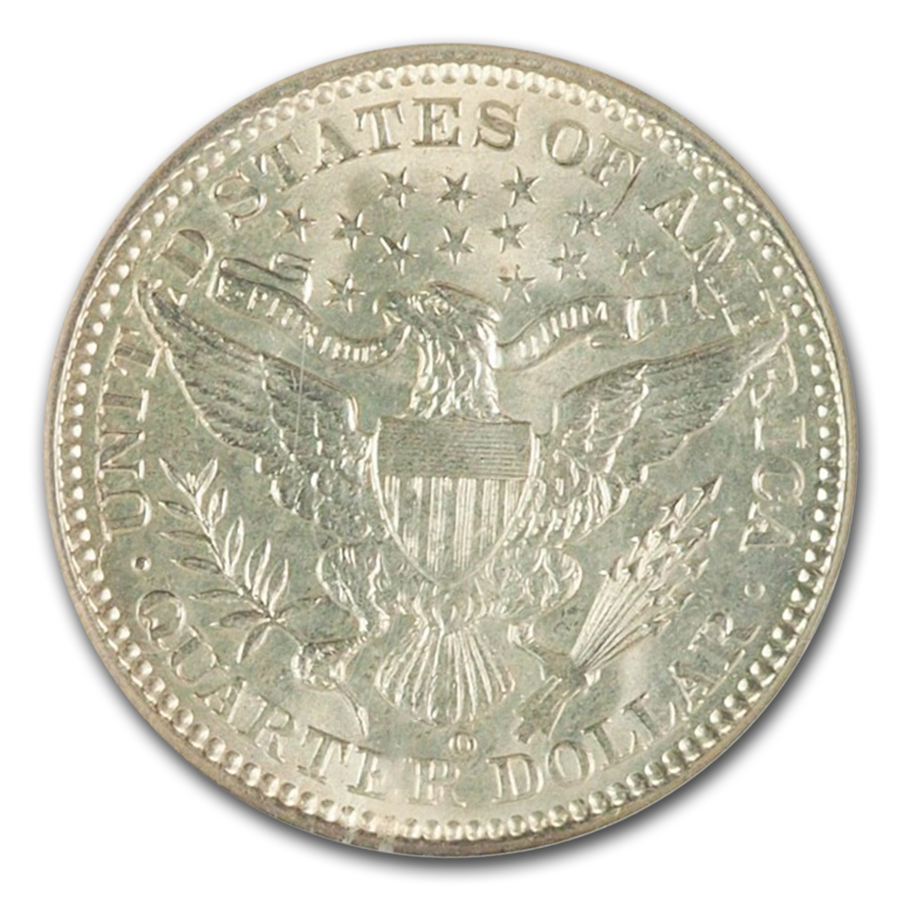 1900-O Barber Quarter MS-66 NGC