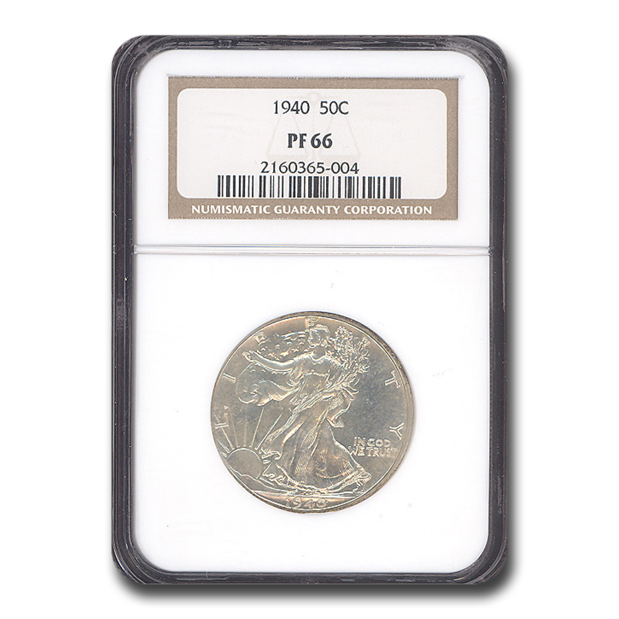 1940 Walking Liberty Half Dollar PF-66 NGC