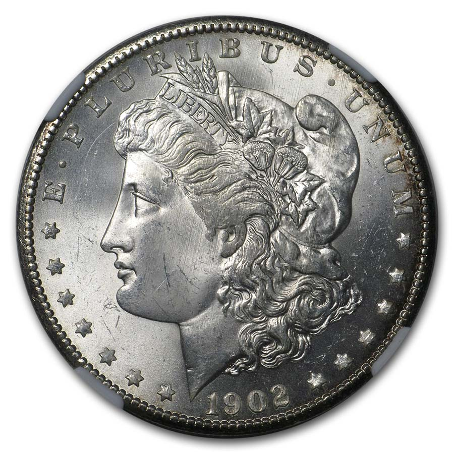 1902 Morgan Dollar MS-64 NGC