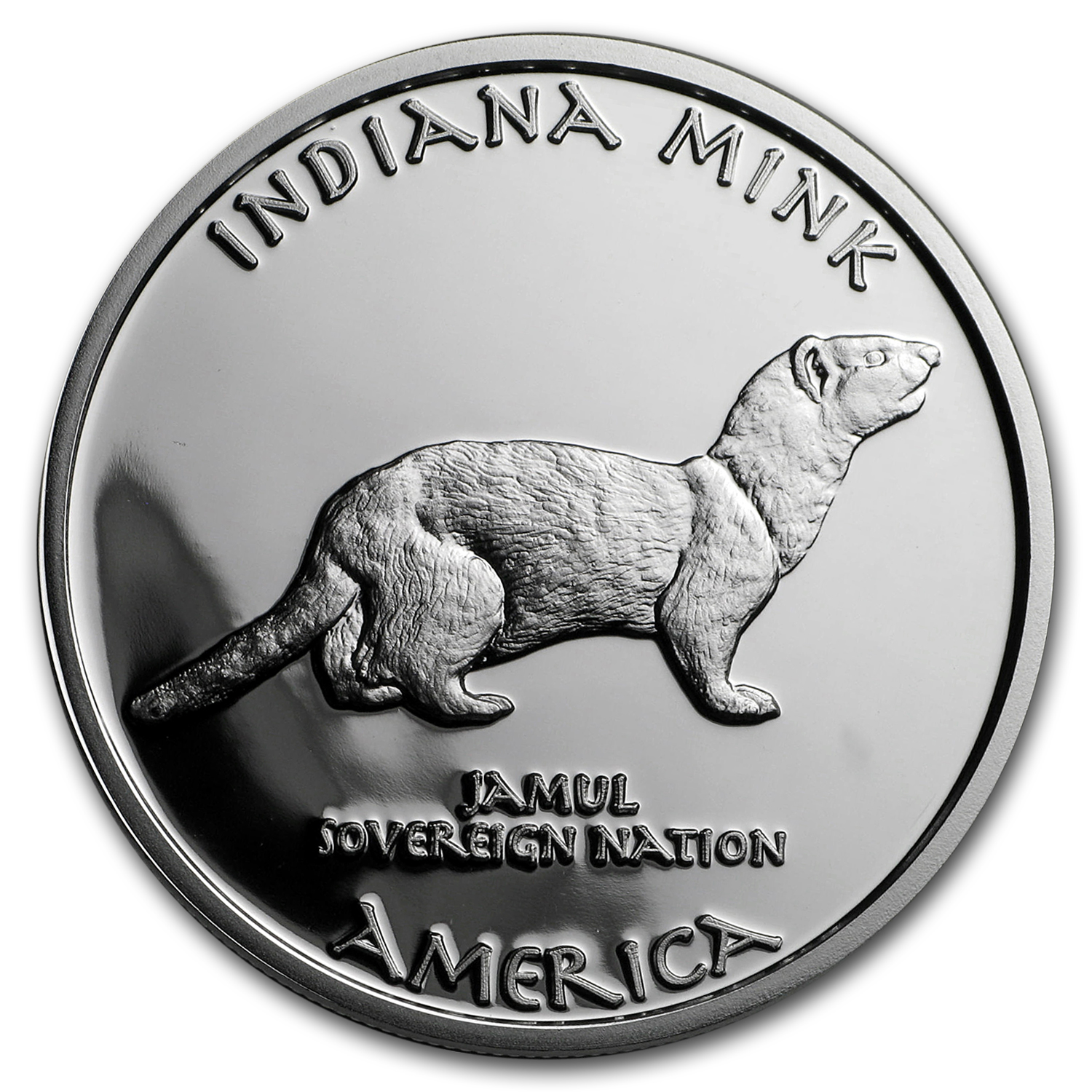 2016 1 oz Silver Proof State Dollars Indiana Miami Mink