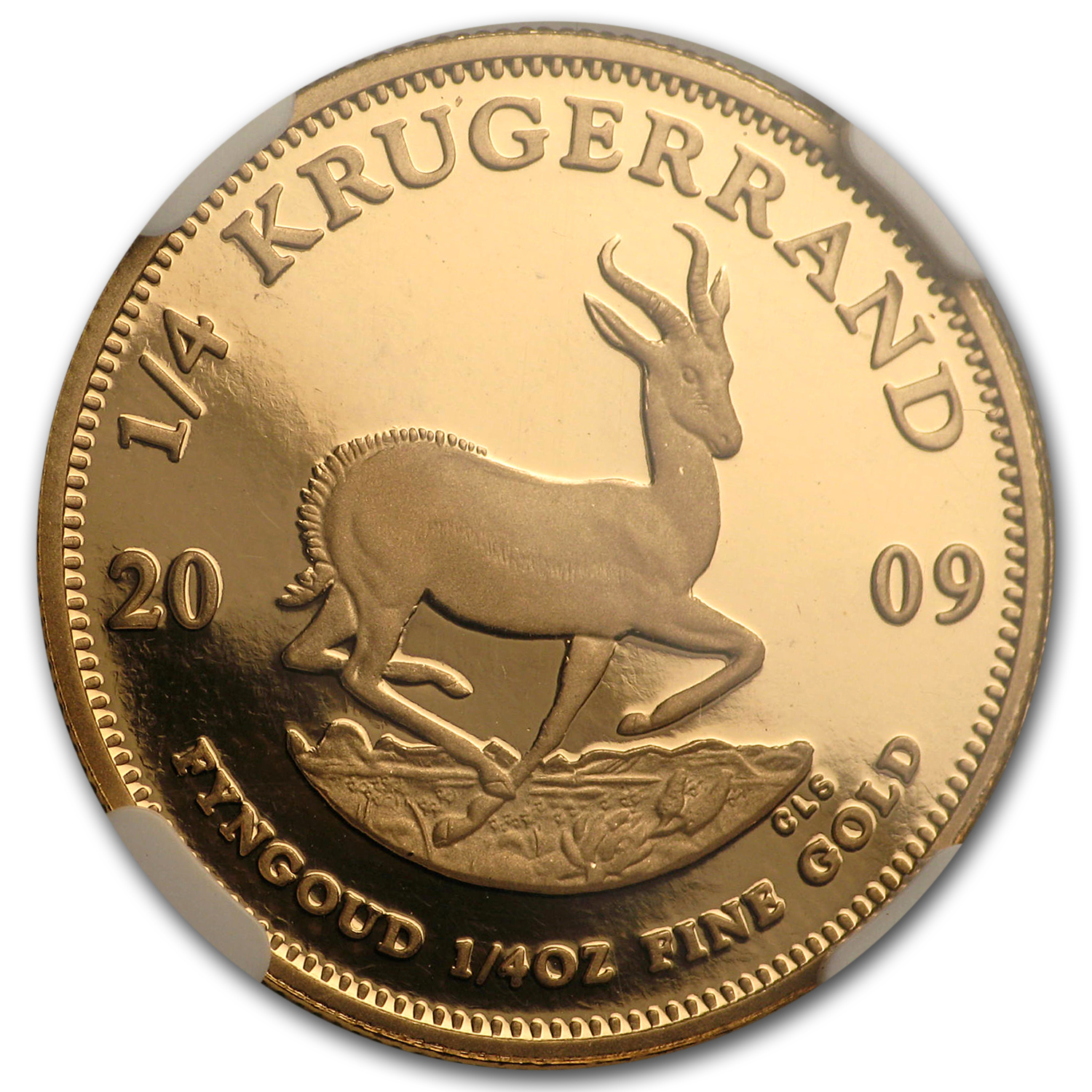 2009 South Africa 1/4 oz Gold Krugerrand PF-70 NGC