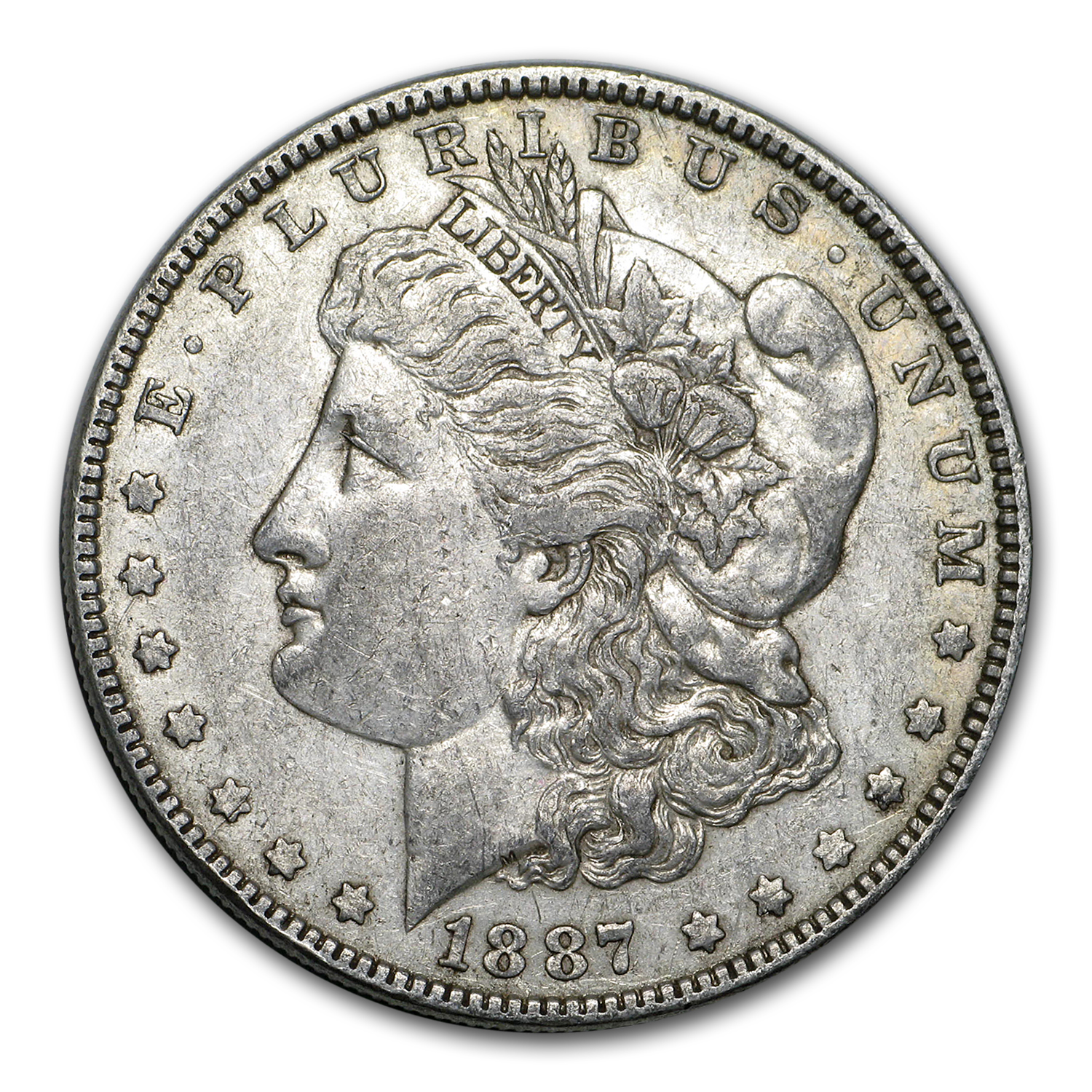1887/6 Morgan Dollar XF