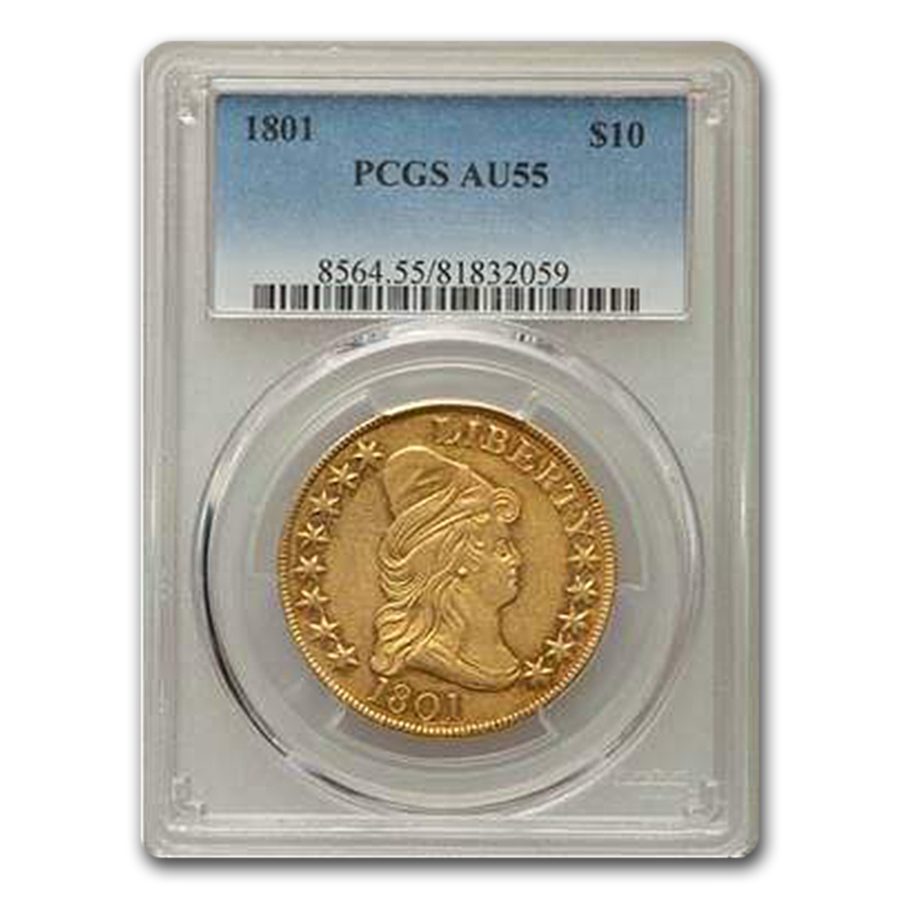 1801 $10 Turban Head Gold Eagle AU-55 PCGS