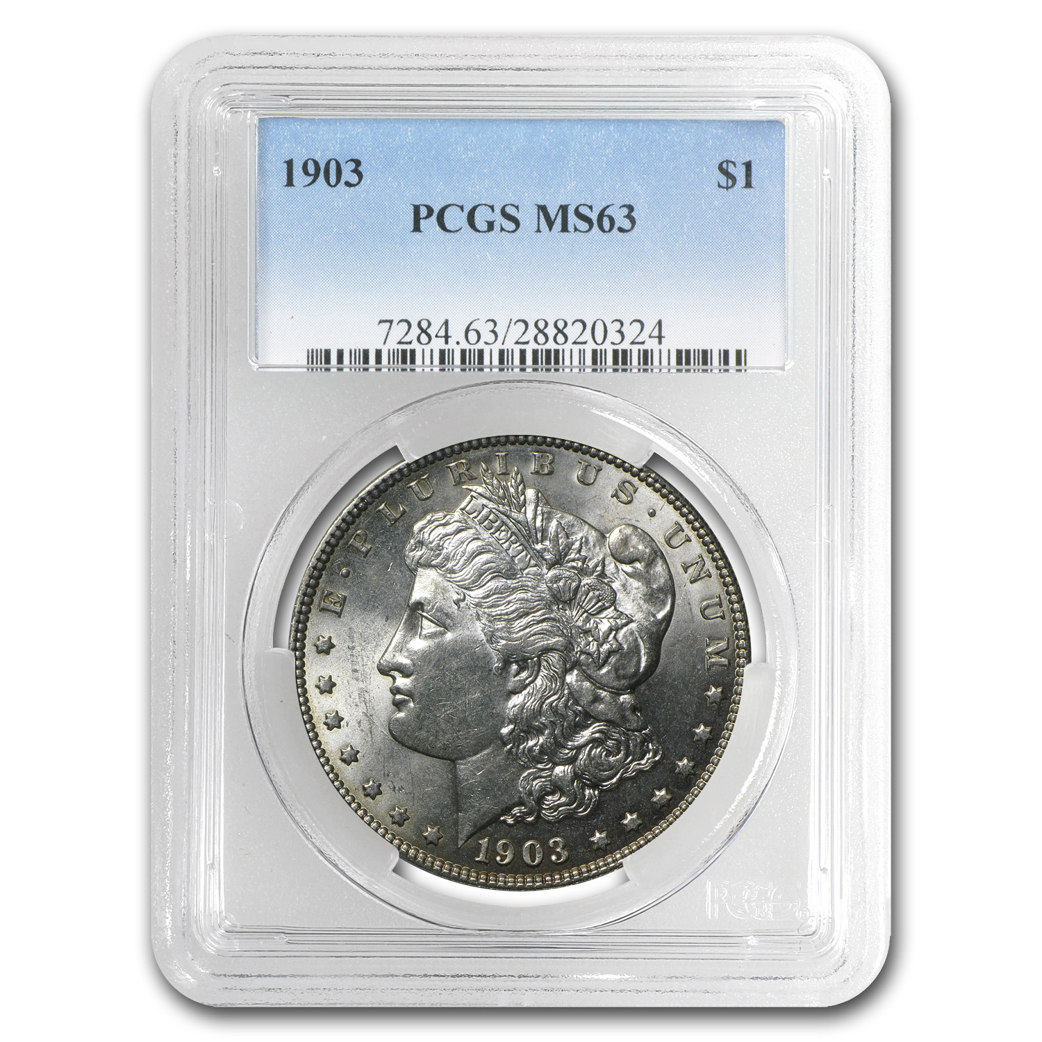 1903 Morgan Dollar Mint State-63 PCGS