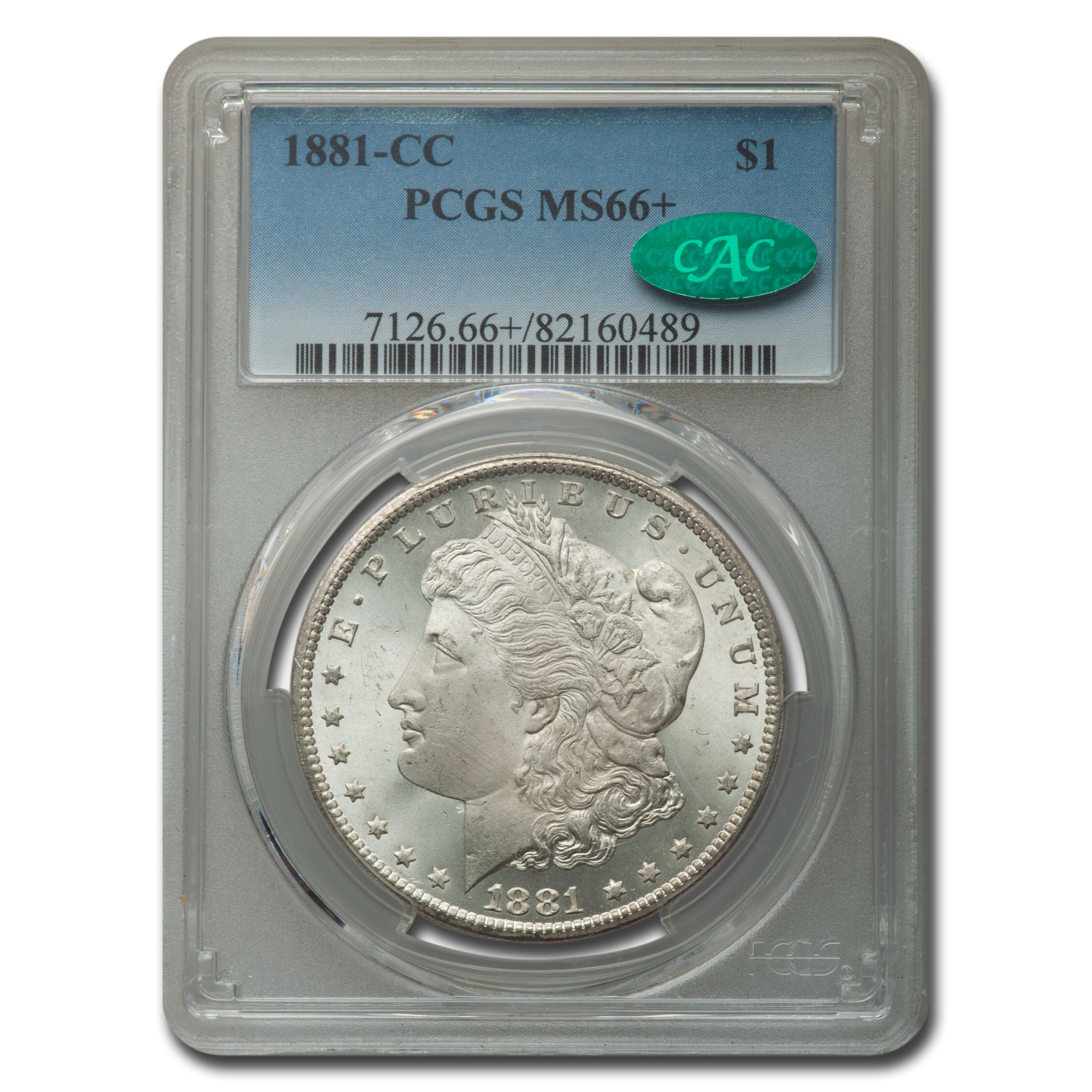 1881-CC Morgan Dollar MS-66+ PCGS CAC