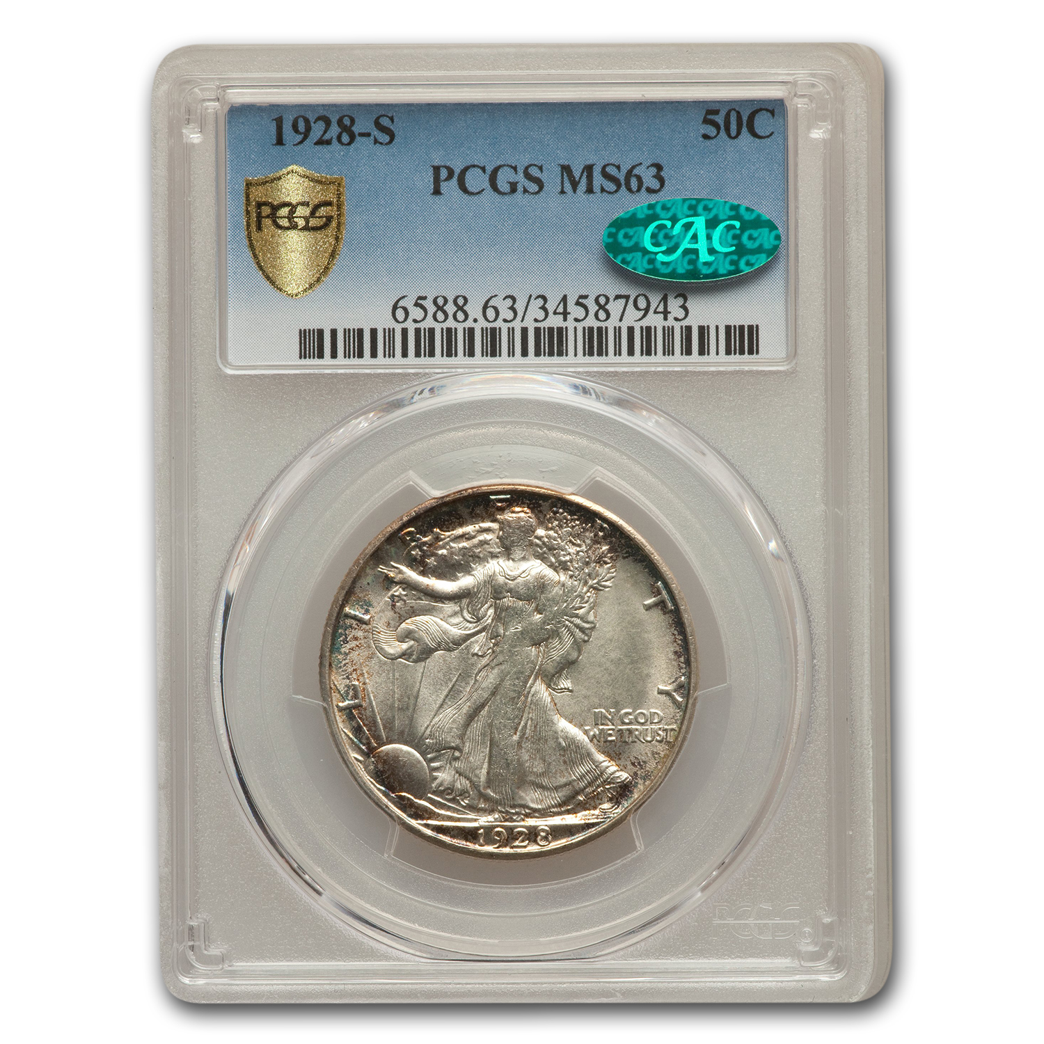 1928-S Walking Liberty Half Dollar MS-63 PCGS CAC