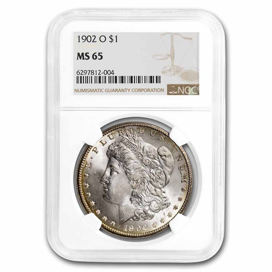 1902-O Morgan Dollar MS-65 NGC