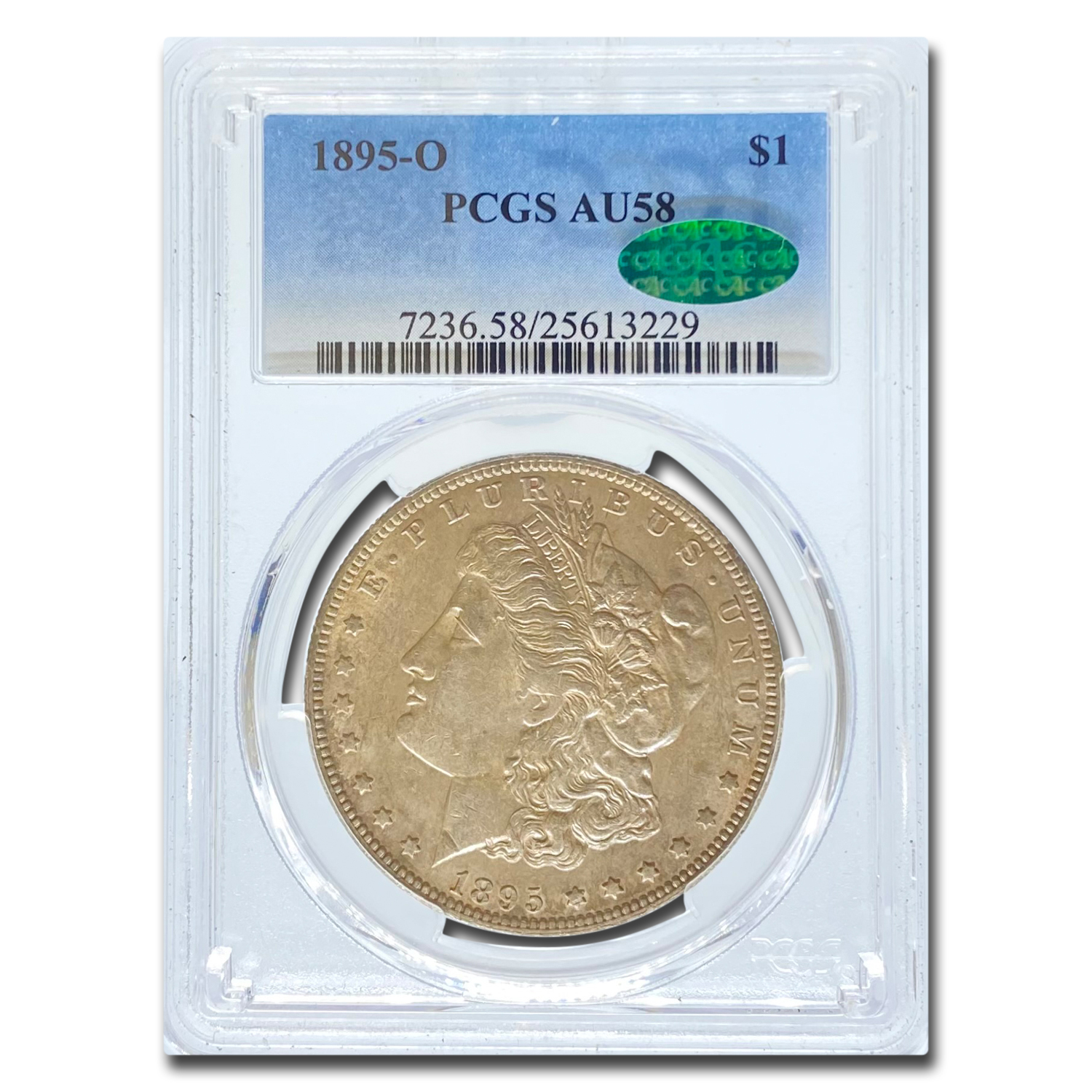 1895-O Morgan Dollar AU-58 PCGS CAC