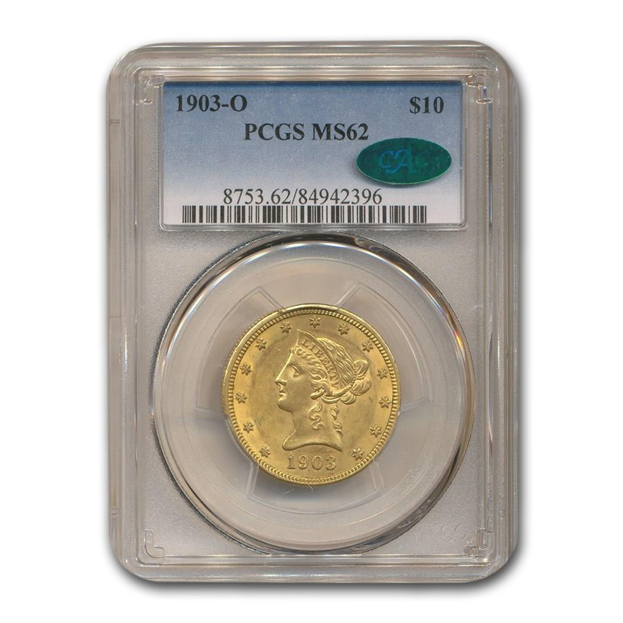 1903-O $10 Liberty Gold Eagle MS-62 PCGS CAC
