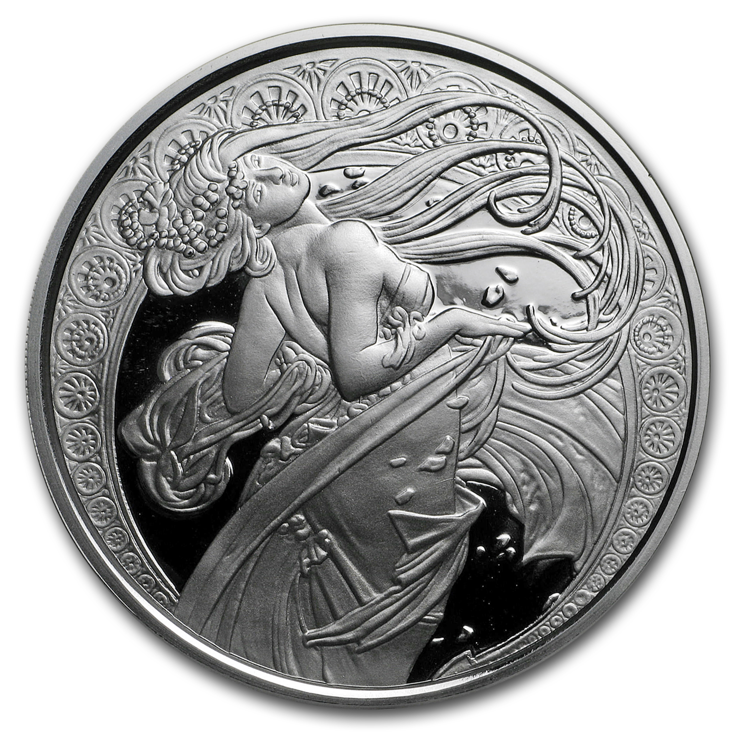 1 oz Silver Proof Round Mucha Collection (Dance)
