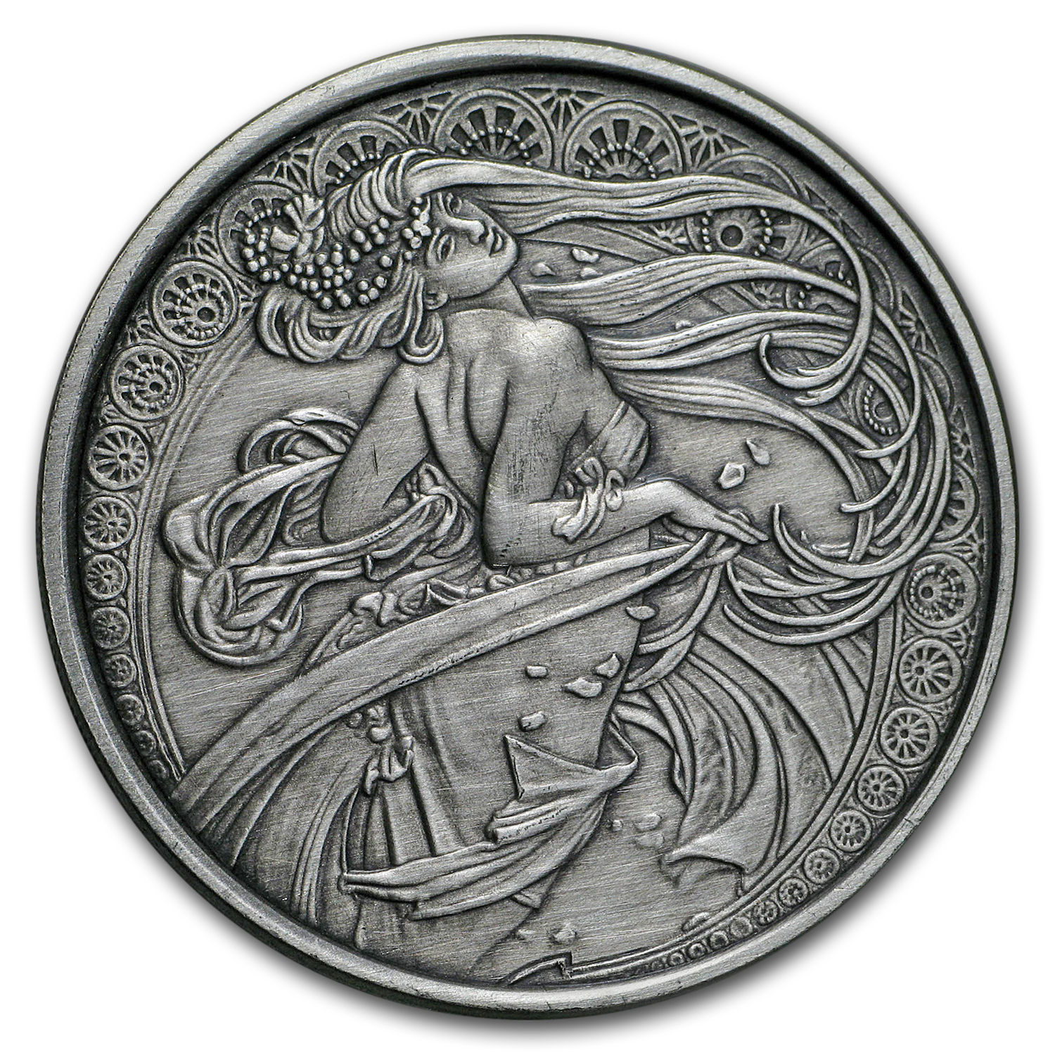 1 oz Silver Antique Round Mucha Collection (Dance)