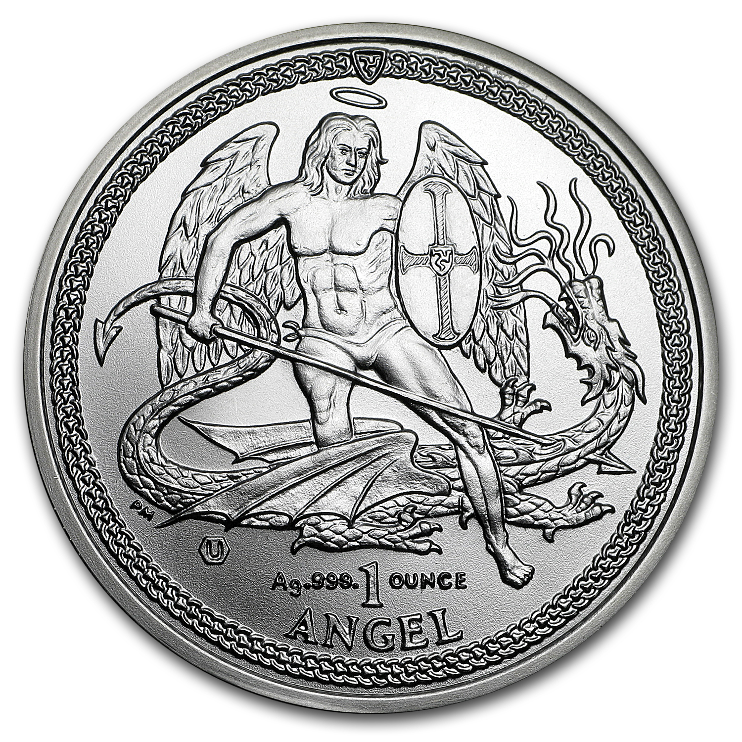 2015 Isle of Man 1 oz Silver Angel BU