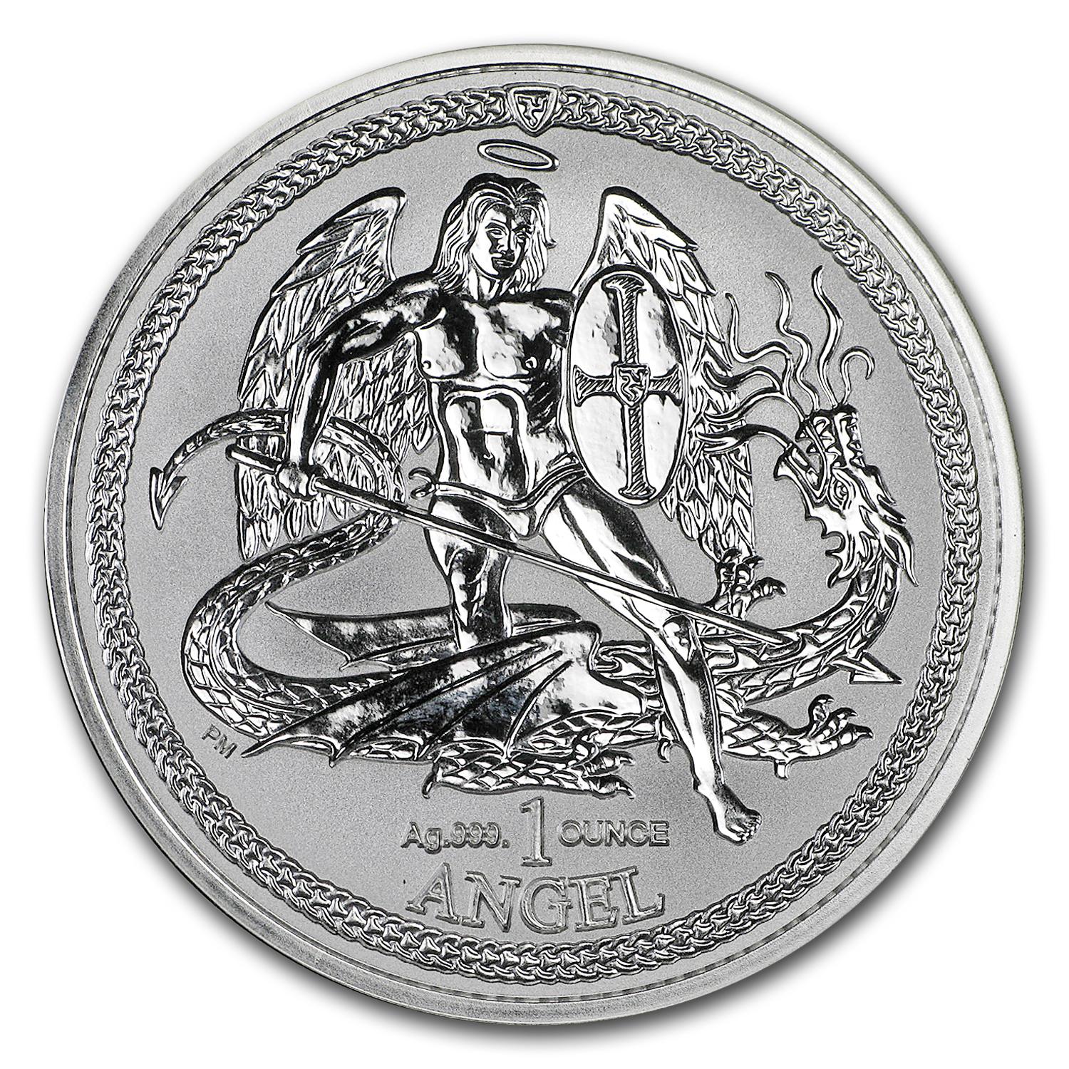 2015 Isle of Man 1 oz Silver Angel Incuse Proof
