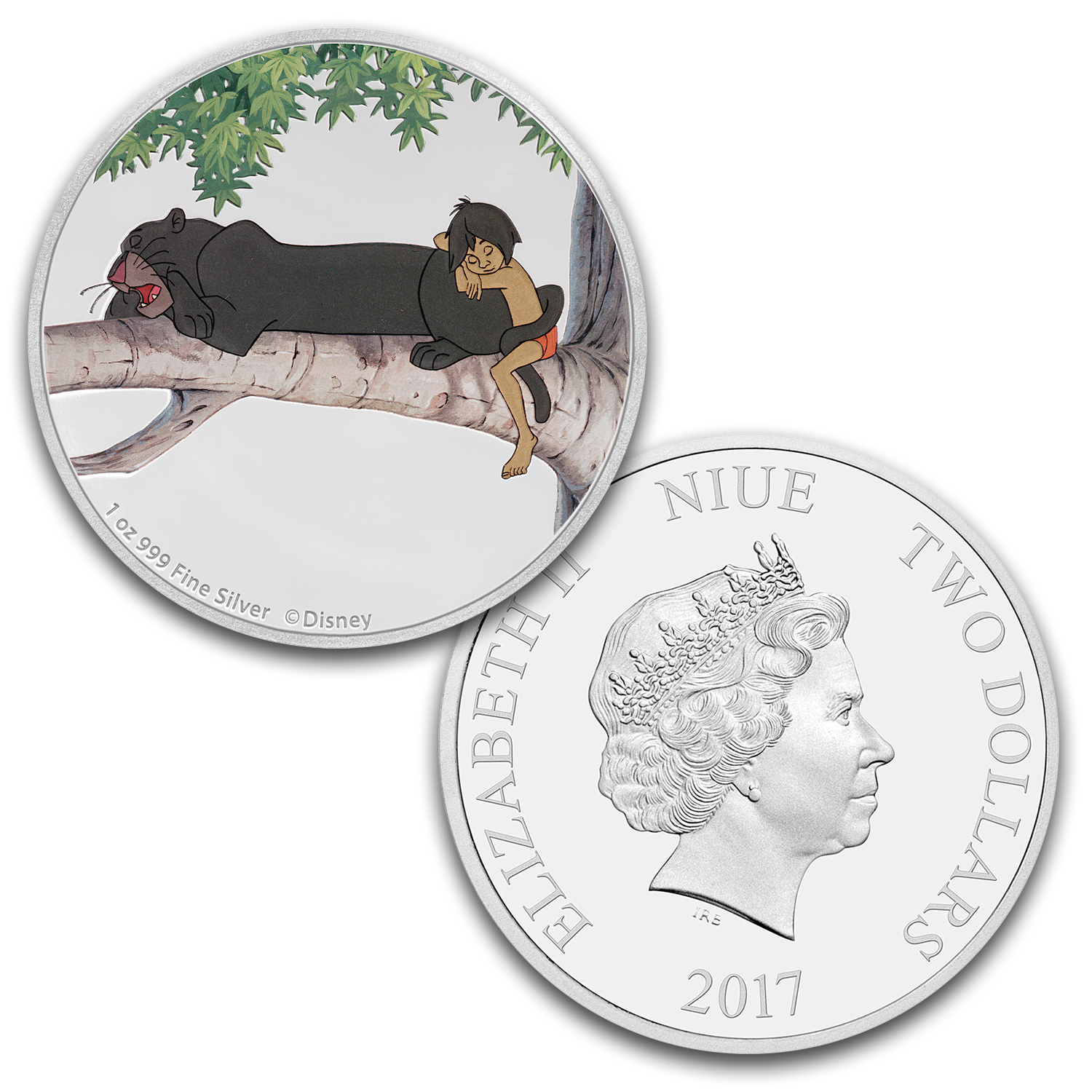 2017 Niue 4-Coin 1 oz Silver $2 Disney The Jungle Book 50th Anniv