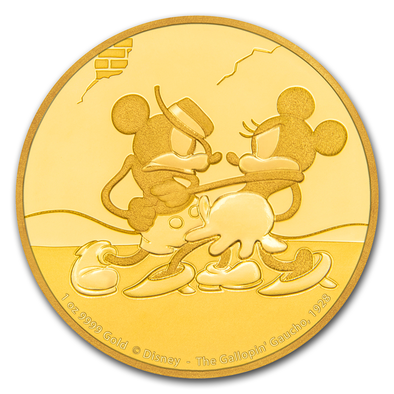 2017 1 oz Gold $250 Mickey Through the Ages: Gallopin' Gaucho