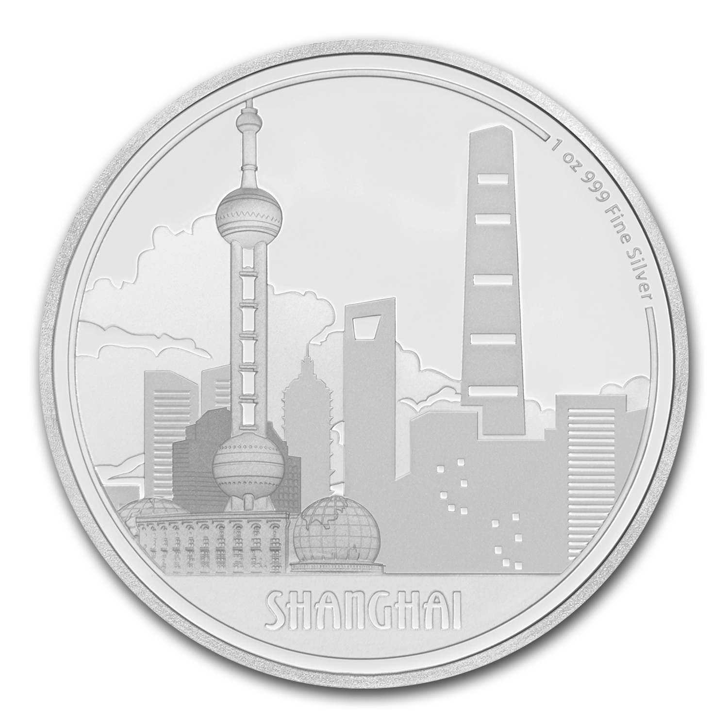 2017 Niue 1 oz Silver $2 Great Cities Shanghai