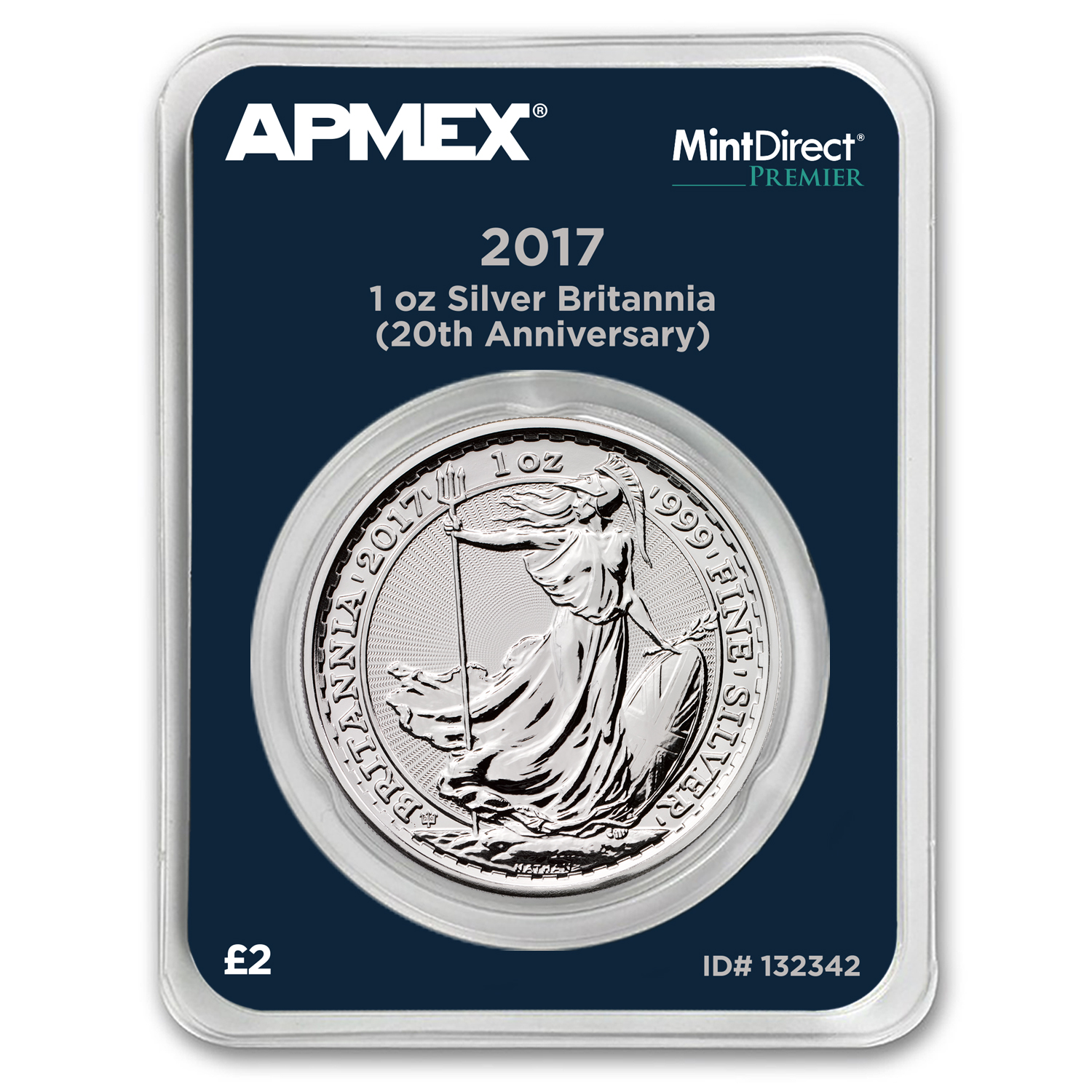 2017 1 oz Silver Britannia 20th Anniversary (MintDirect® Premier)