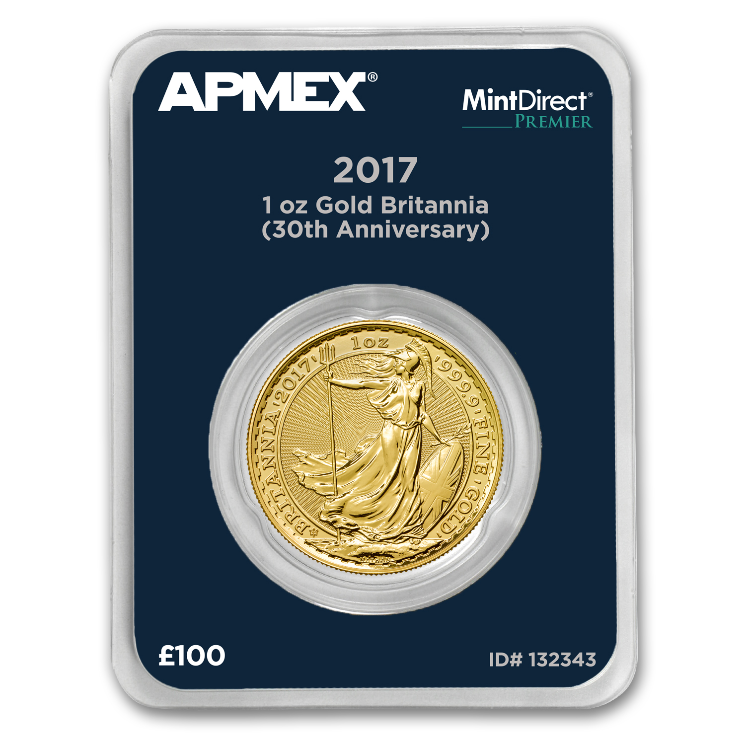 2017 1 oz Gold Britannia 30th Anniversary (MintDirect® Premier)