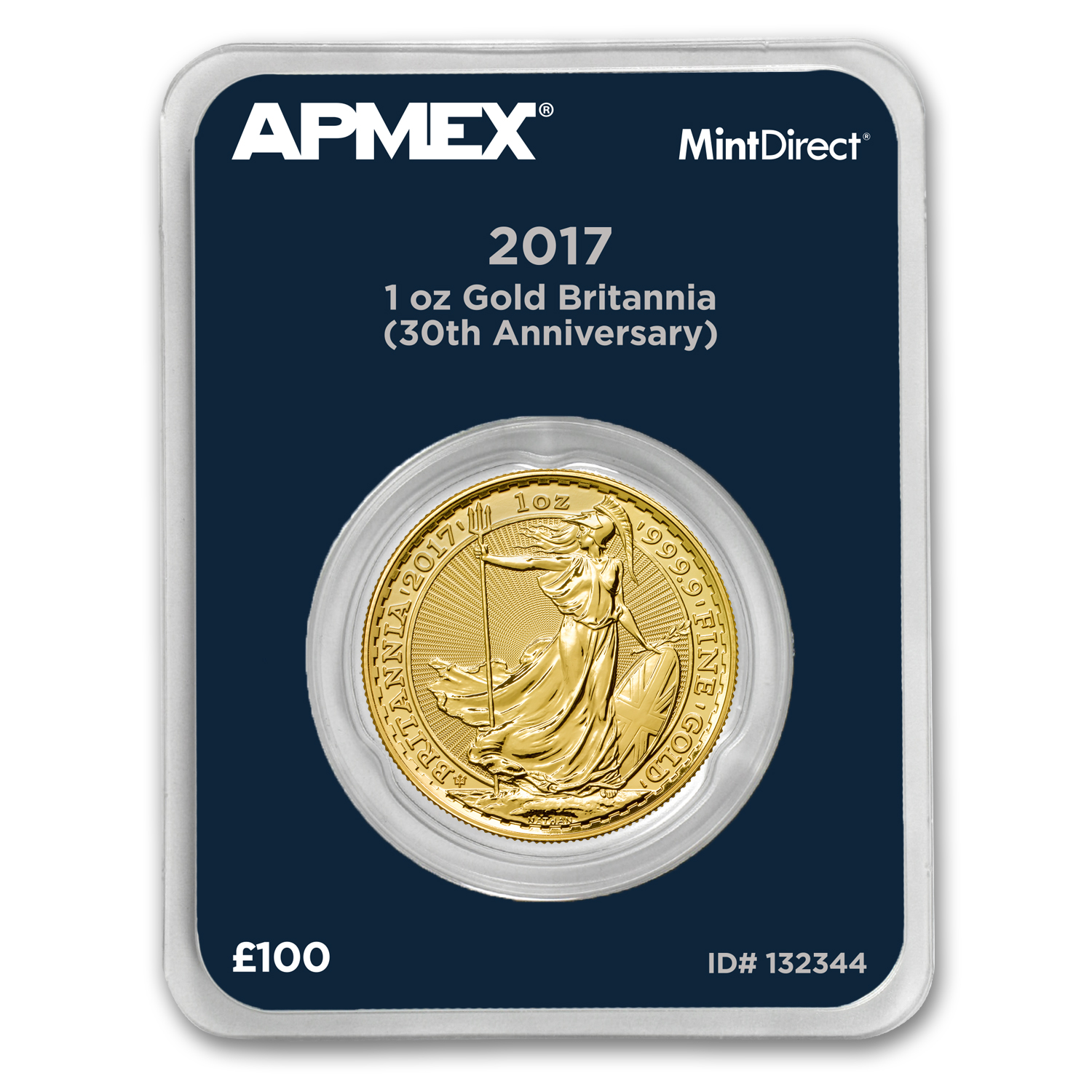 2017 GB 1 oz Gold Britannia 30th Anniversary (MintDirect®)