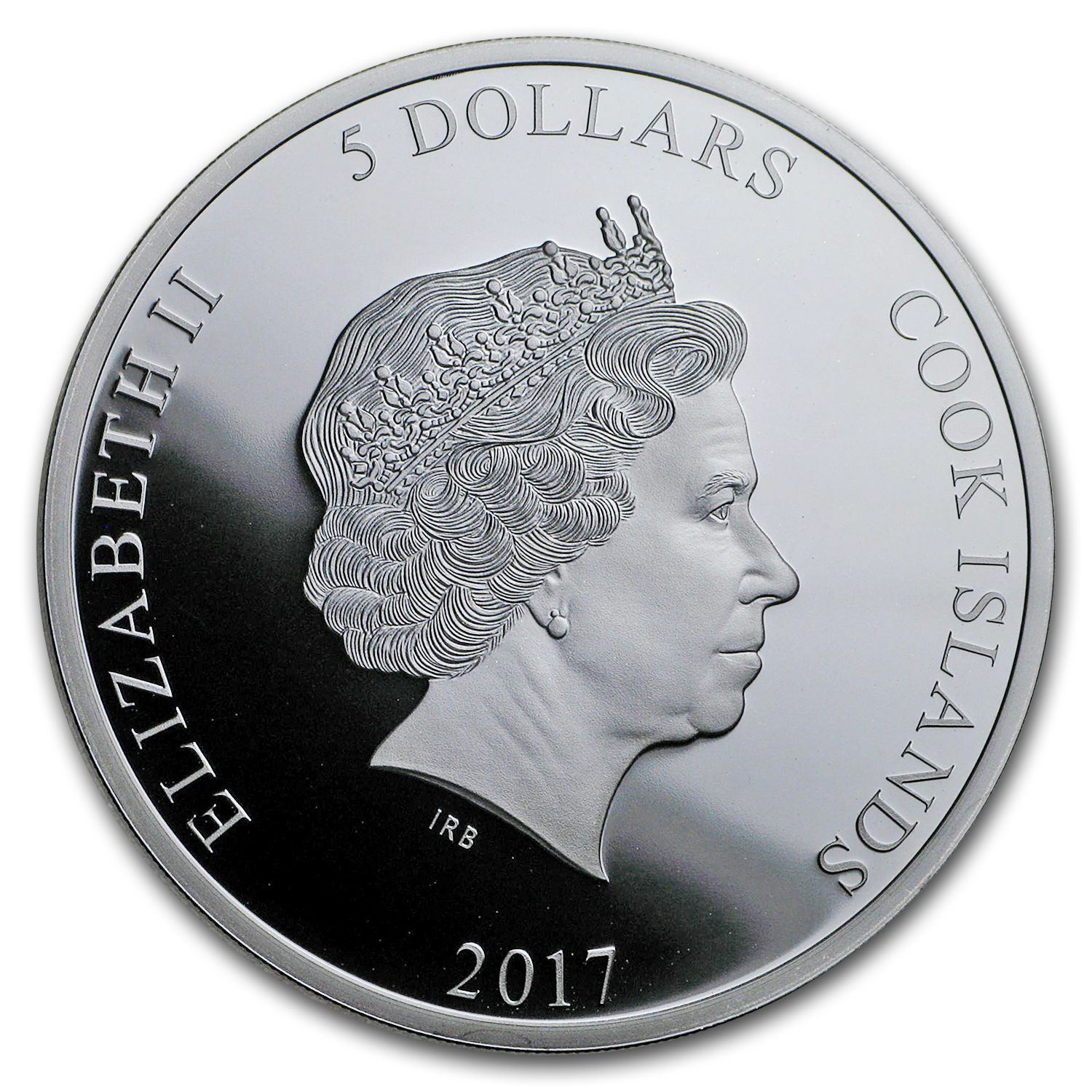 2017 Cook Islands 1 oz Silver $5 Guy Fawkes Mask II