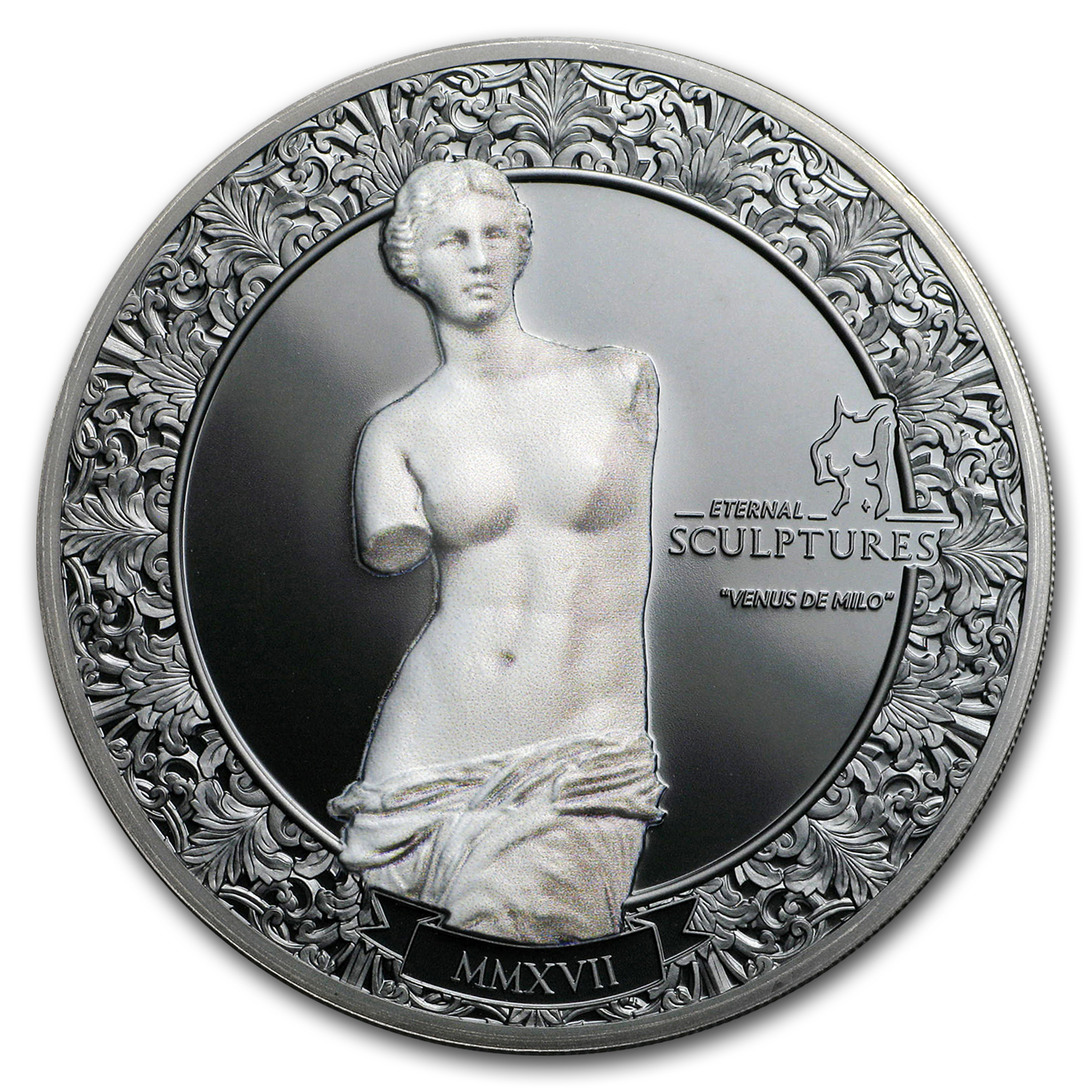 2017 Palau 2 oz Silver $10 Eternal Sculptures (Venus de Milo)