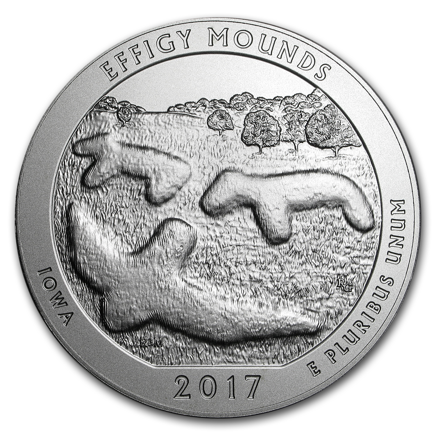2017-P 5 oz Silver ATB Effigy Mounds (w/Box & COA)
