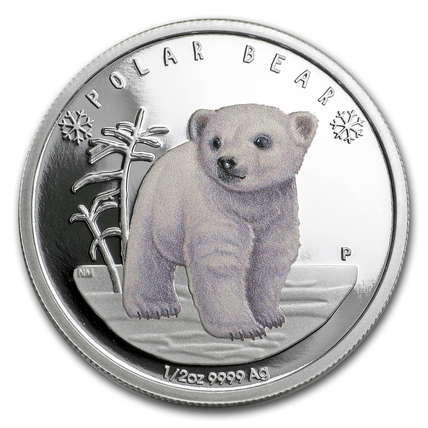 2017 Tuvalu 1/2 oz Silver Proof Polar Babies: Polar Bear