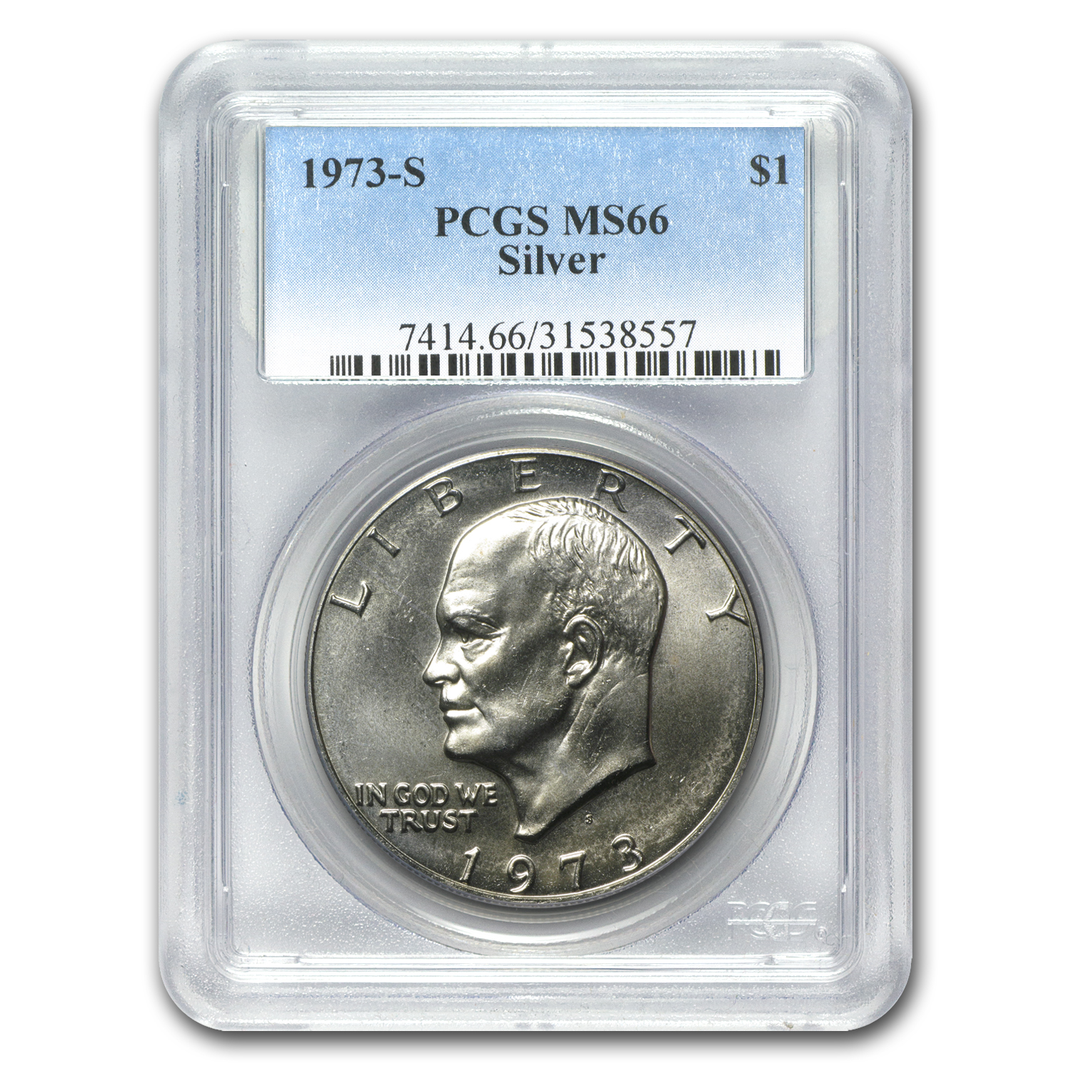 1973-S Eisenhower Silver Dollar MS-66 PCGS