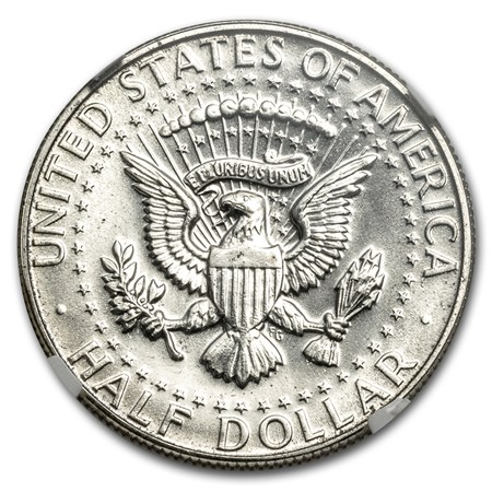 1966 Kennedy Half Dollar Sms Ms 65 Ngc Mint Error Obv