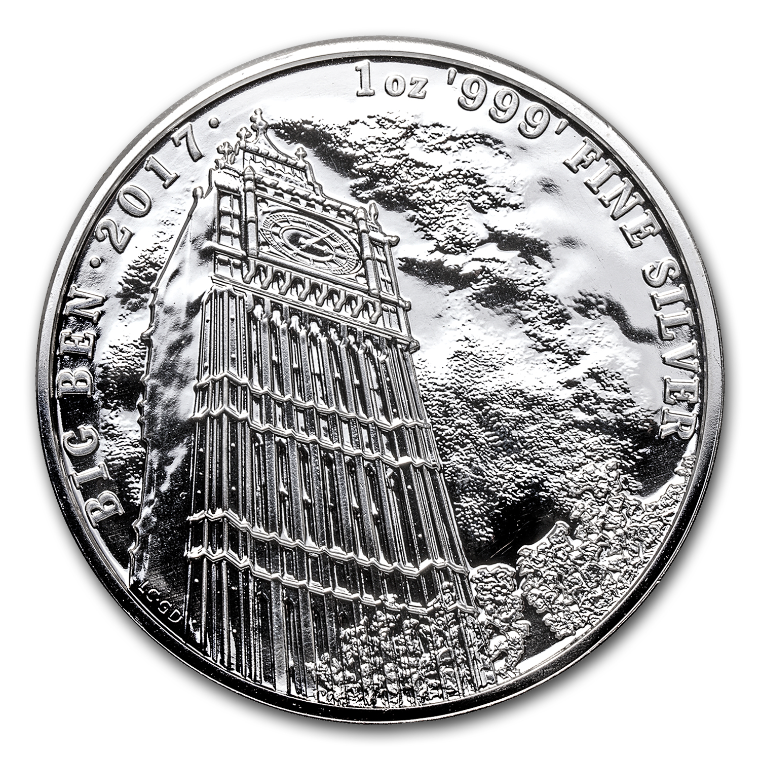 2017 Great Britain 1 oz Silver Landmarks of Britain (Big Ben)