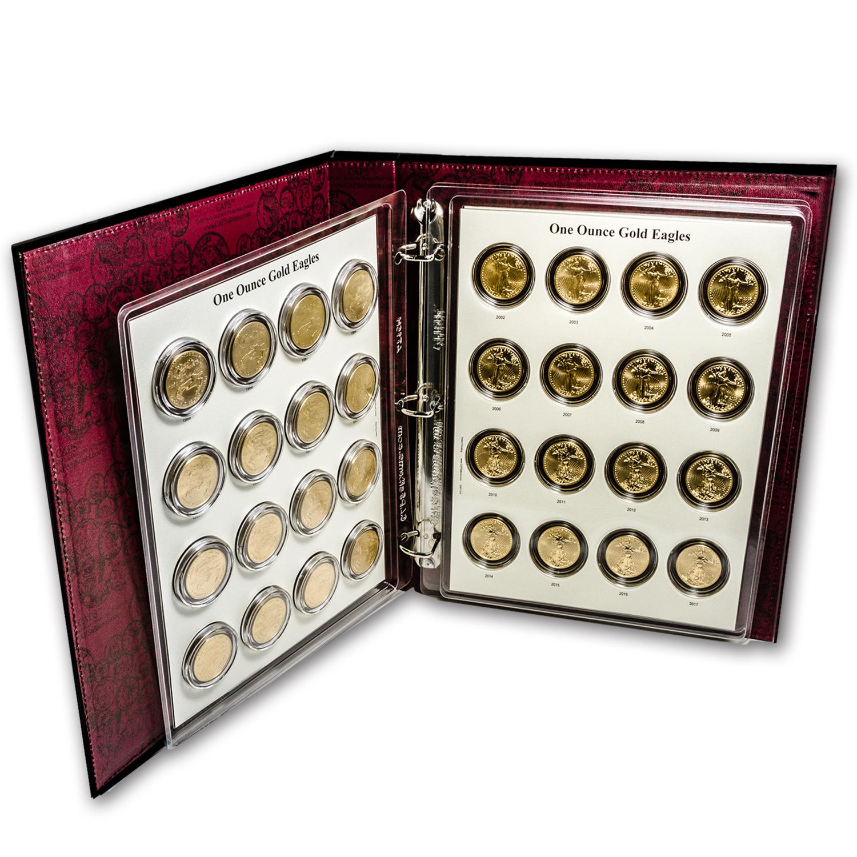 1986 2017 32 Coin 1 Oz Gold Eagle Set Bu Caps Album
